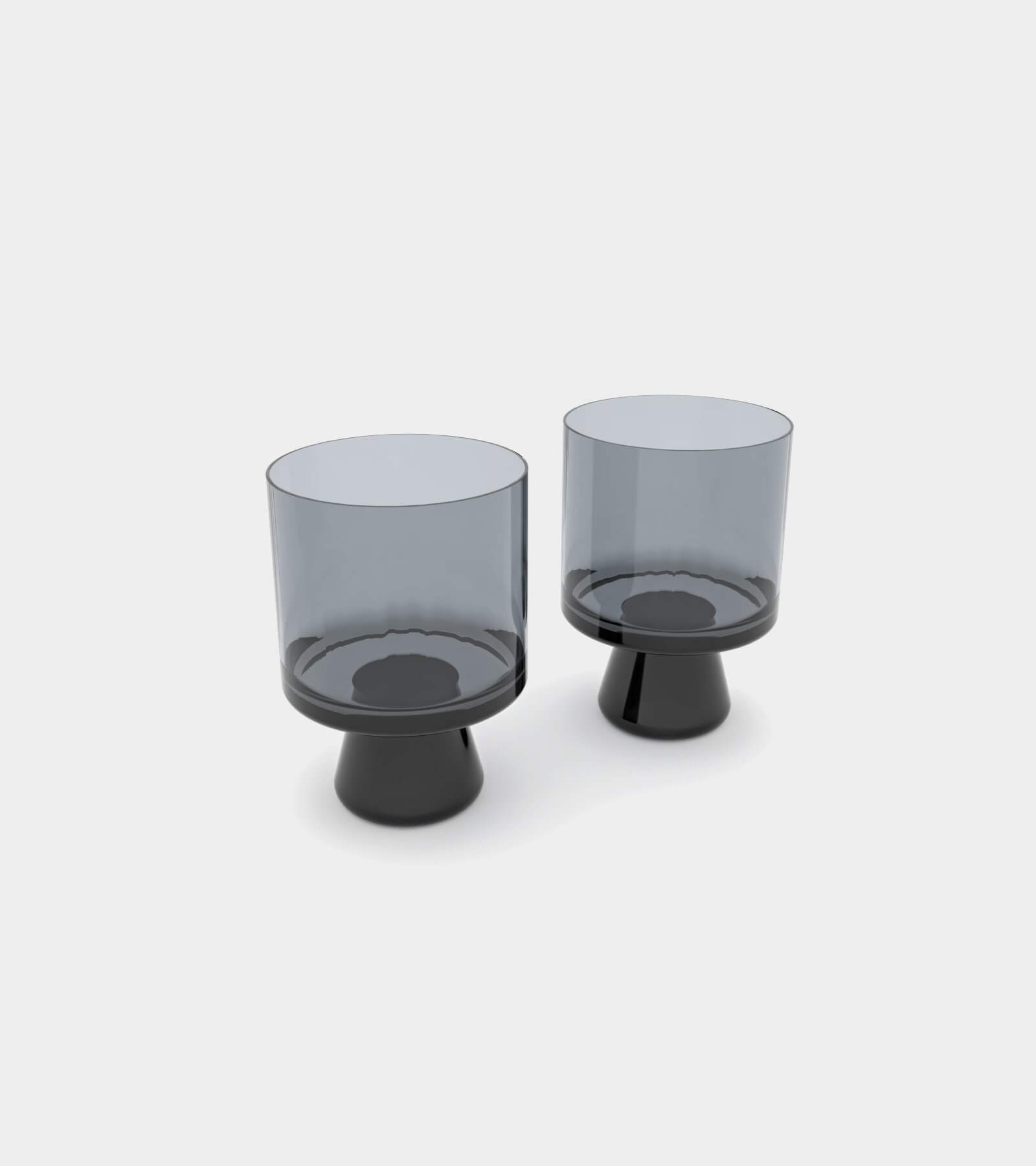 Tank low ball glasses black and yellow gray - 3D Model