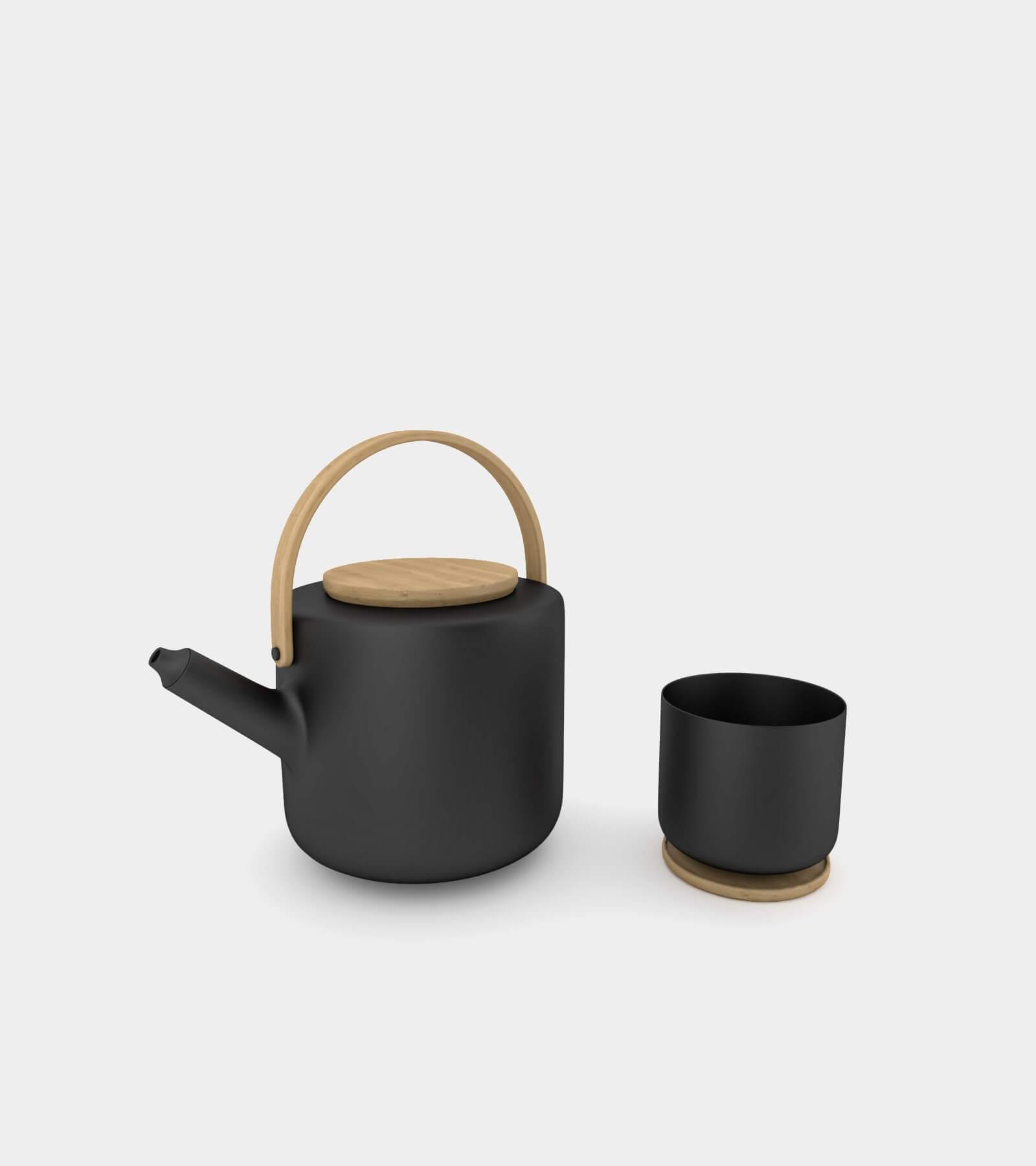 Teapot & tea mug 2- 3D Model