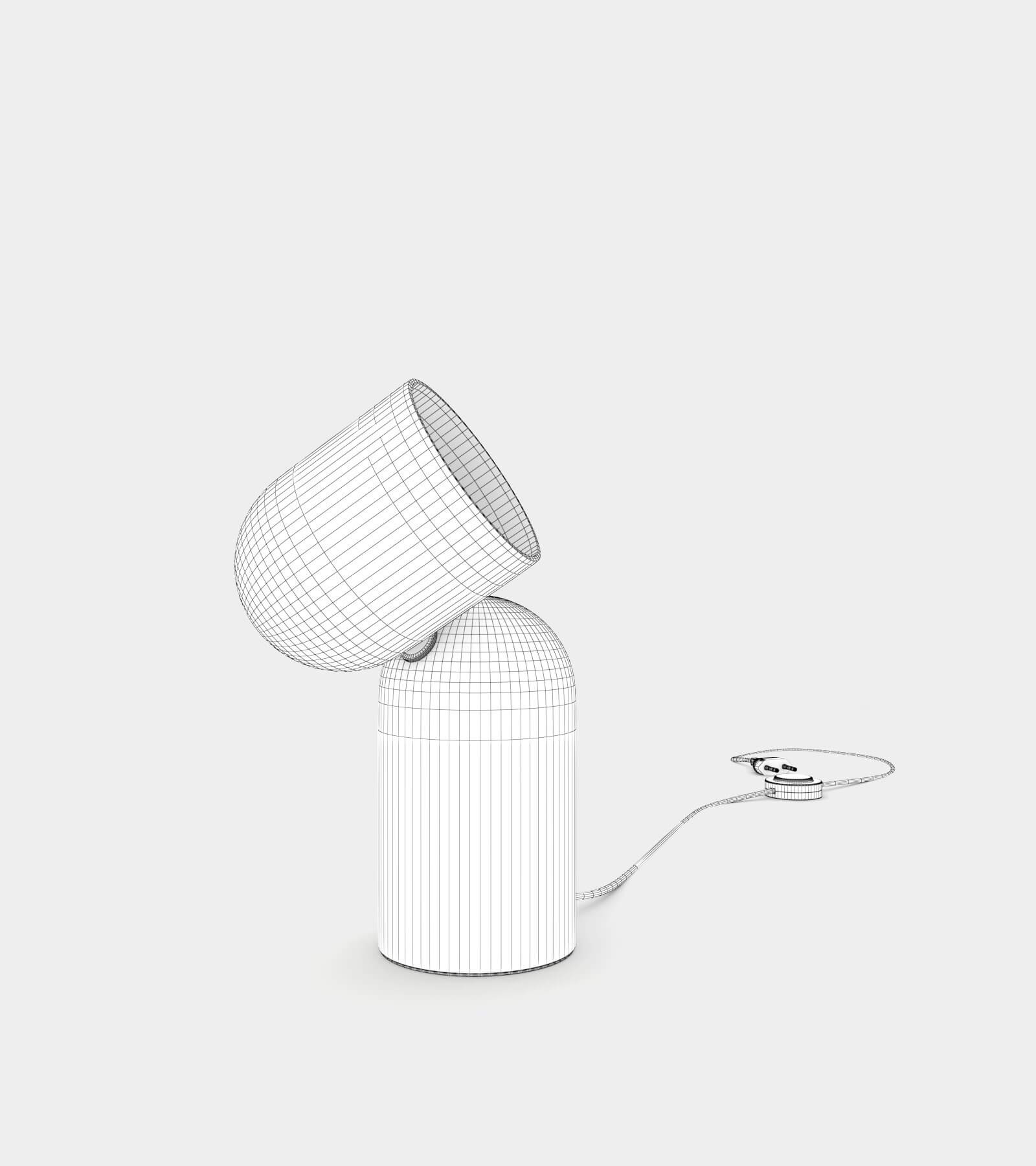 Turning table lamp-wire-2 3D Model
