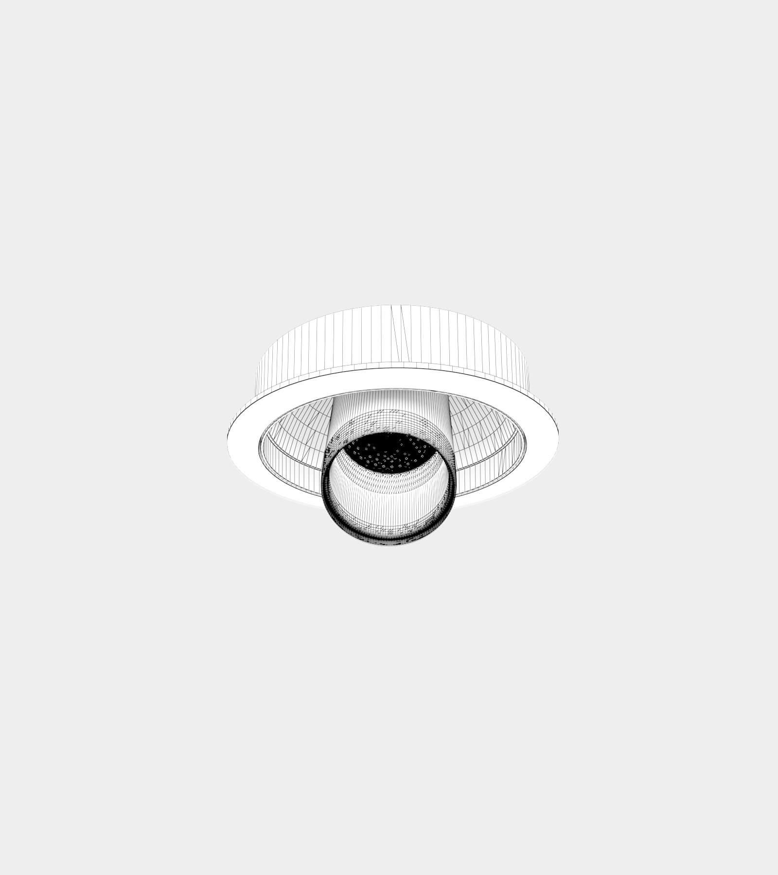 Adjustable recessed ceiling spotlights-wire-1 3D Model