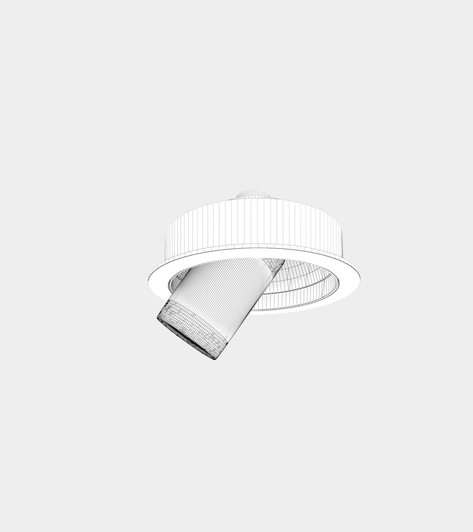 Adjustable recessed ceiling spotlights-wire-2 3D Model