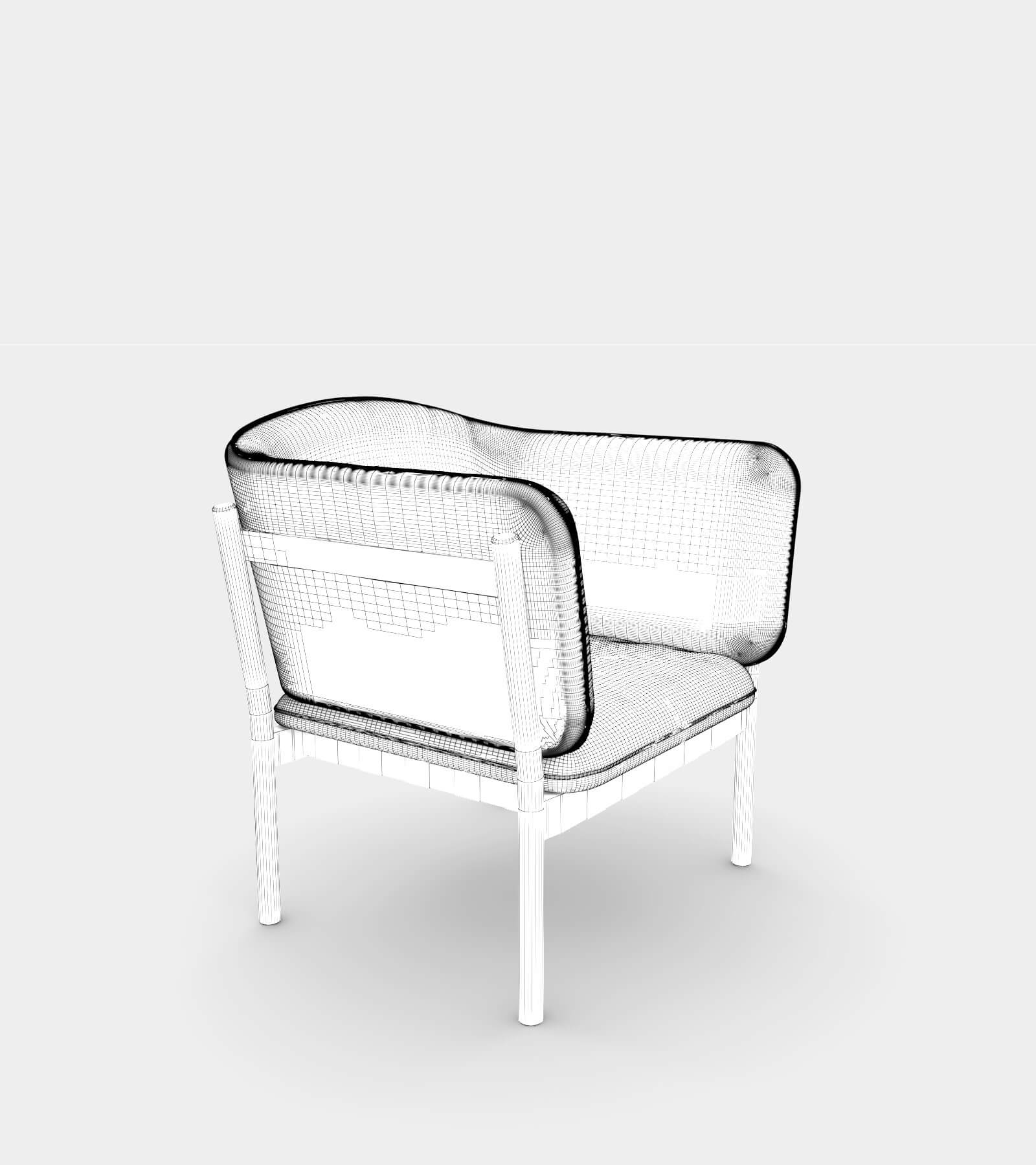 Armchair with fabric and wooden frame-wire-1