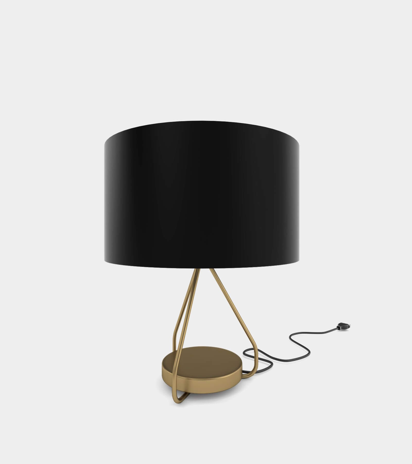 Classic brass table lamp 3D Model