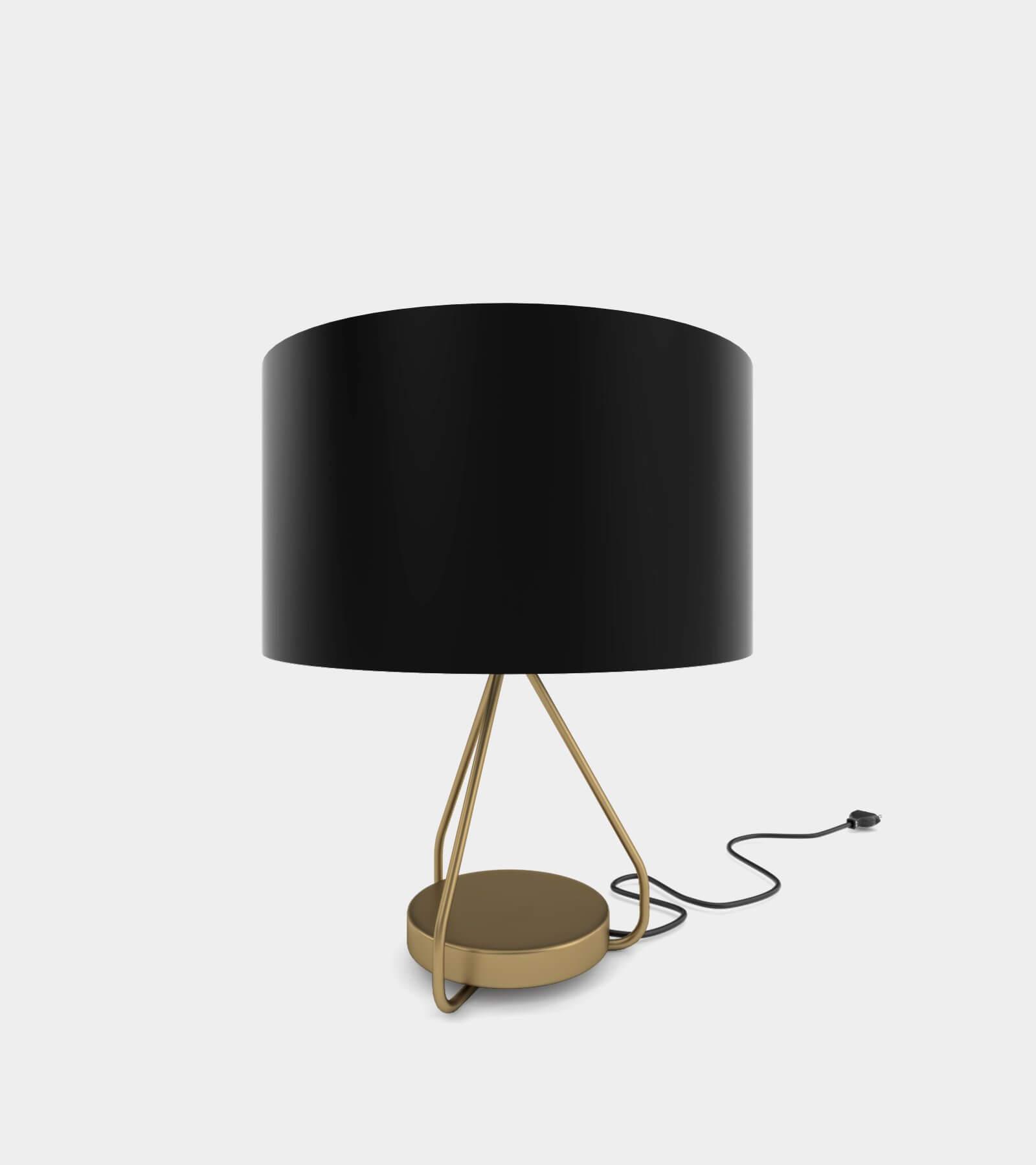Classic brass table lamp 3D Model