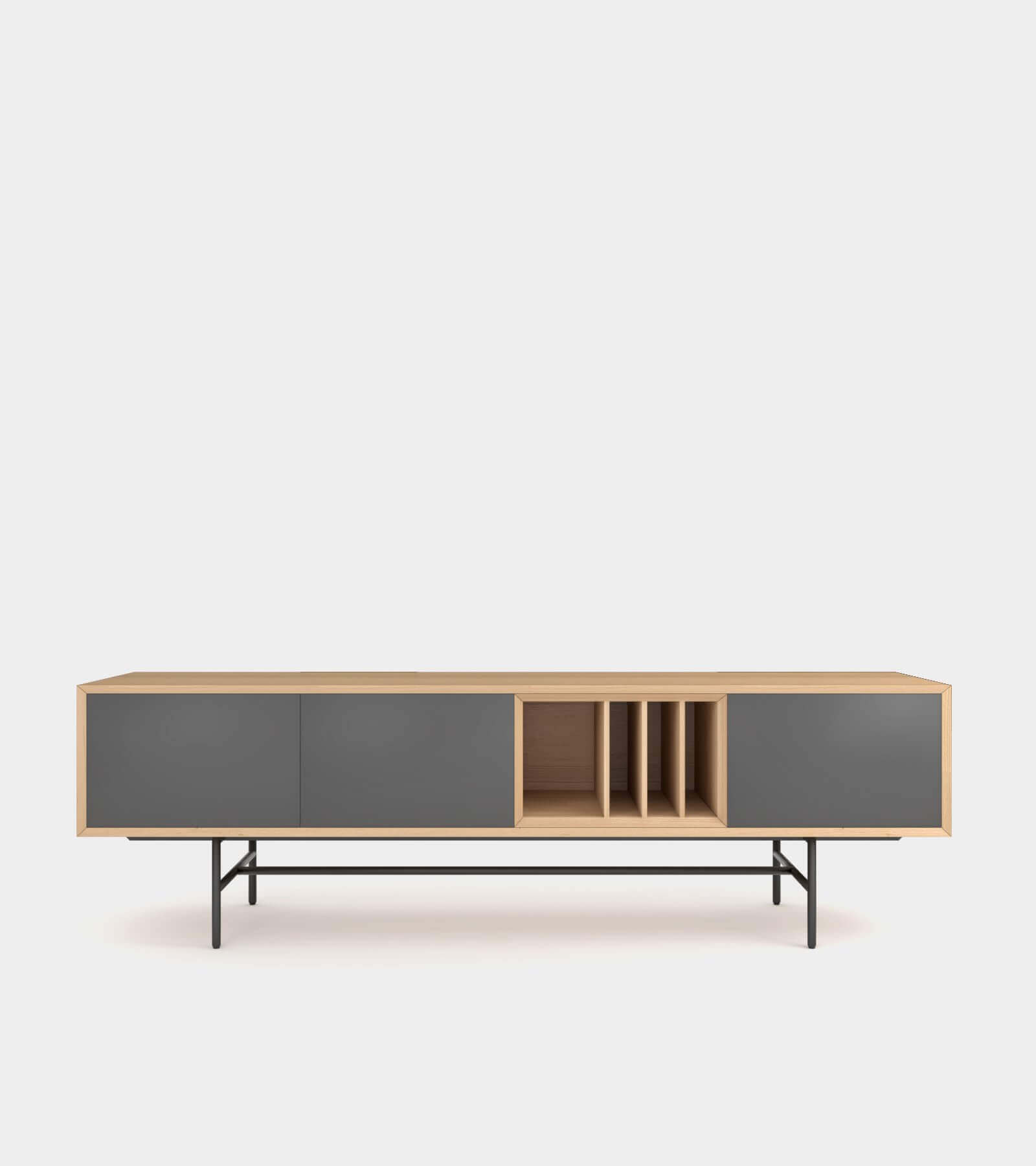 Clean and modern sideboard with wood frame-2 3D Model