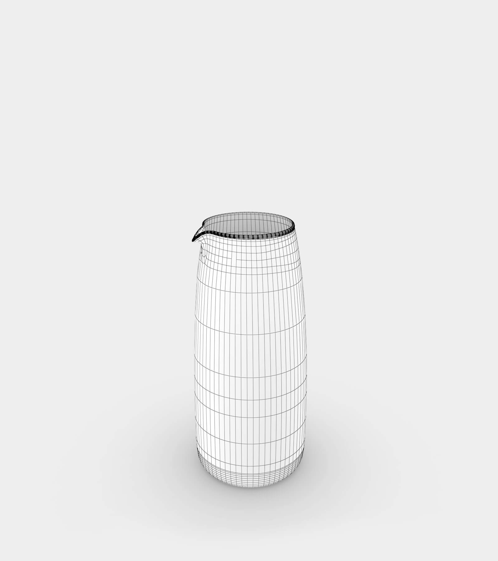 Coloured vases-wire-1 3D Model