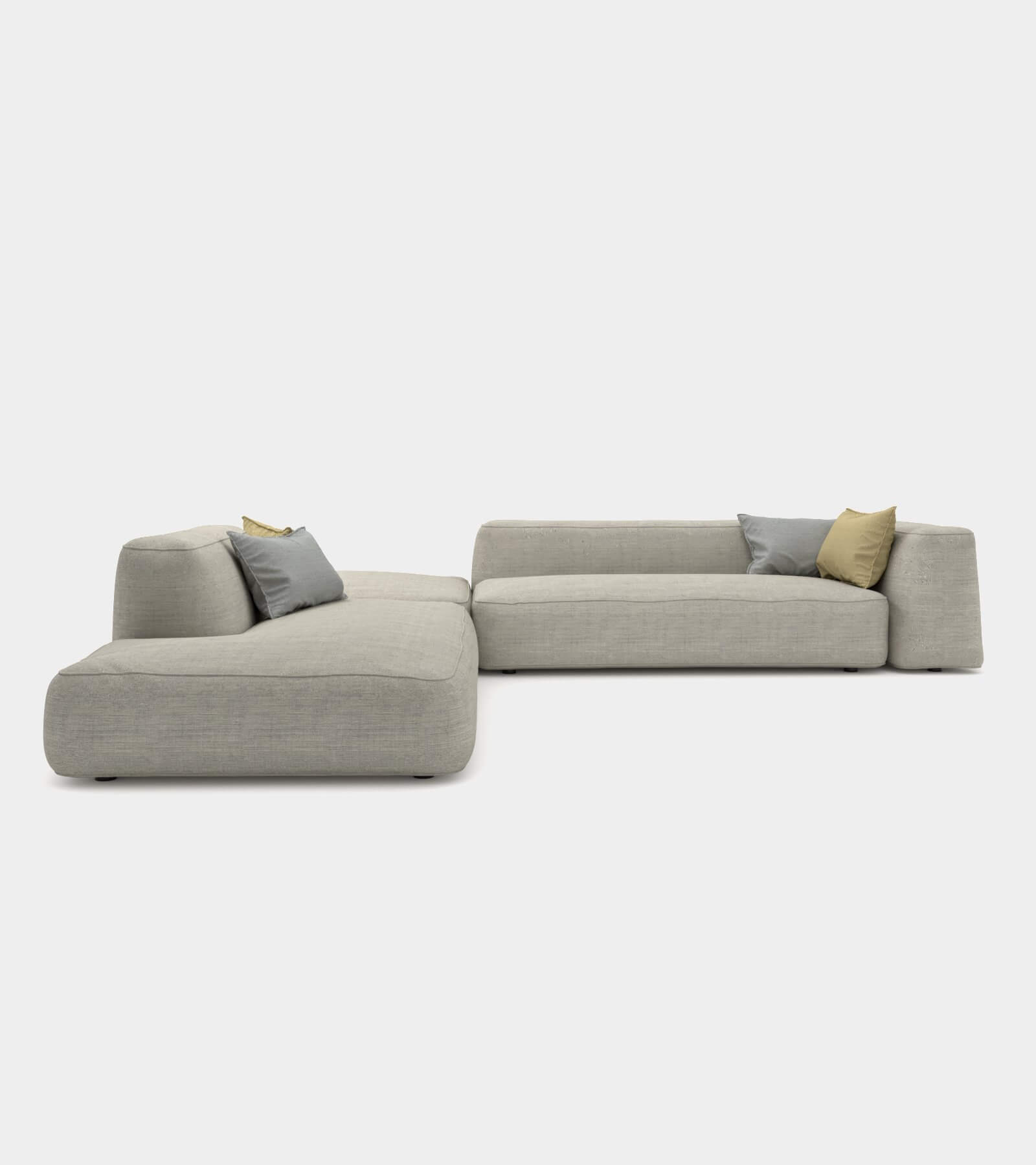 Cozy couch with round edges 3D Model