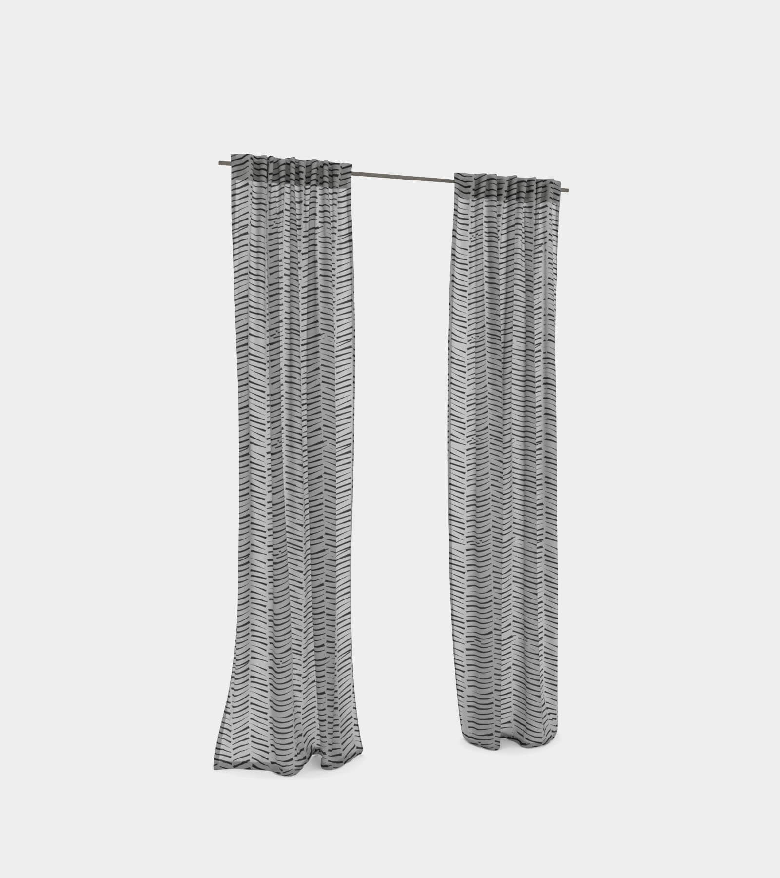 Curtain with hooks 2 3D Model