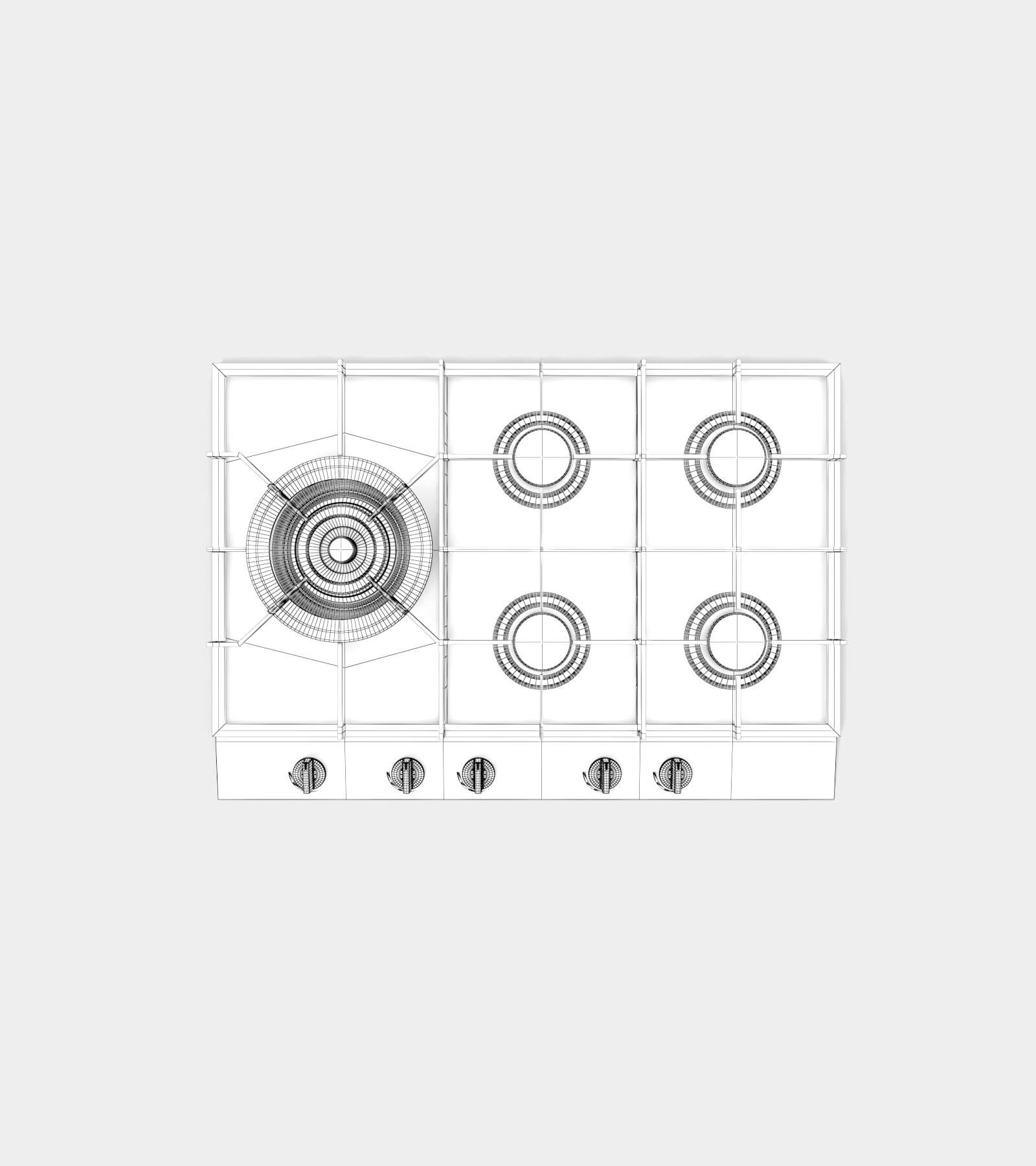Gas hob-wire-2 3D Model