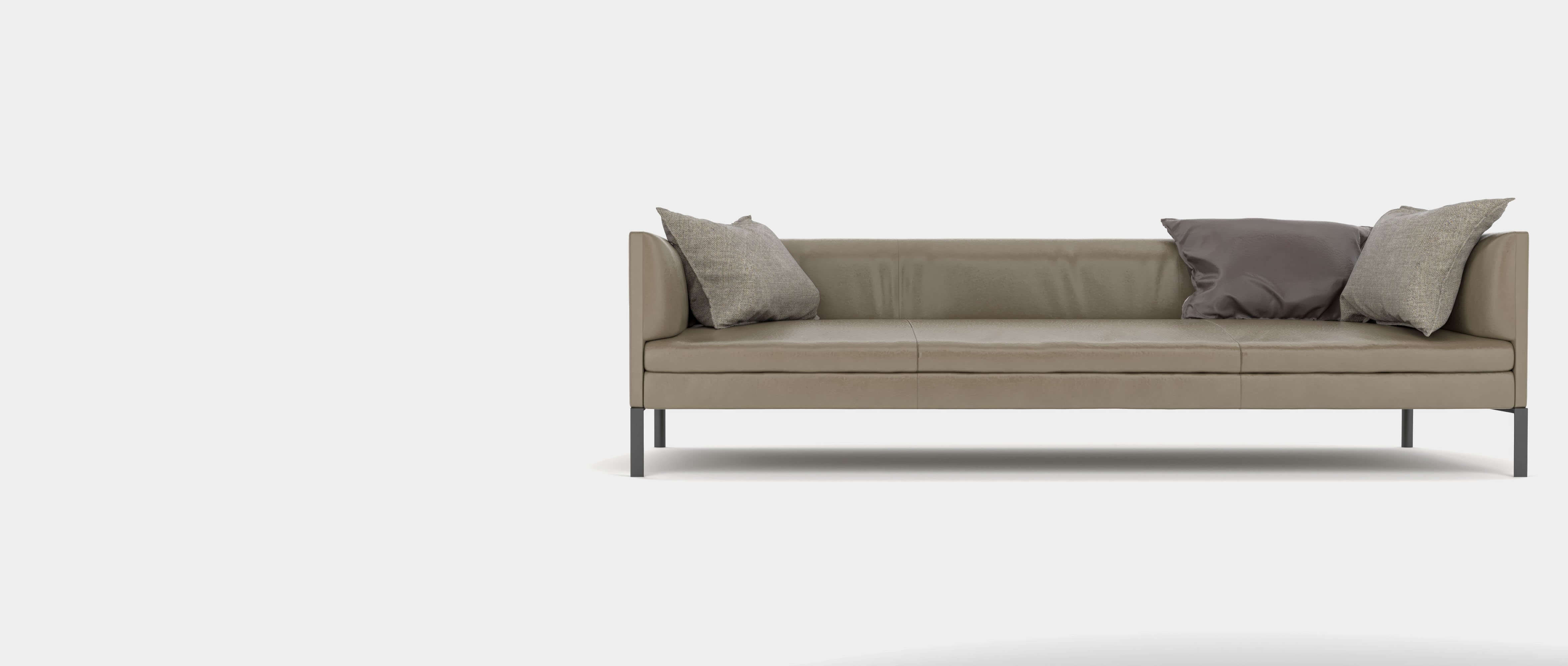 Leather couch with cushions Teaser