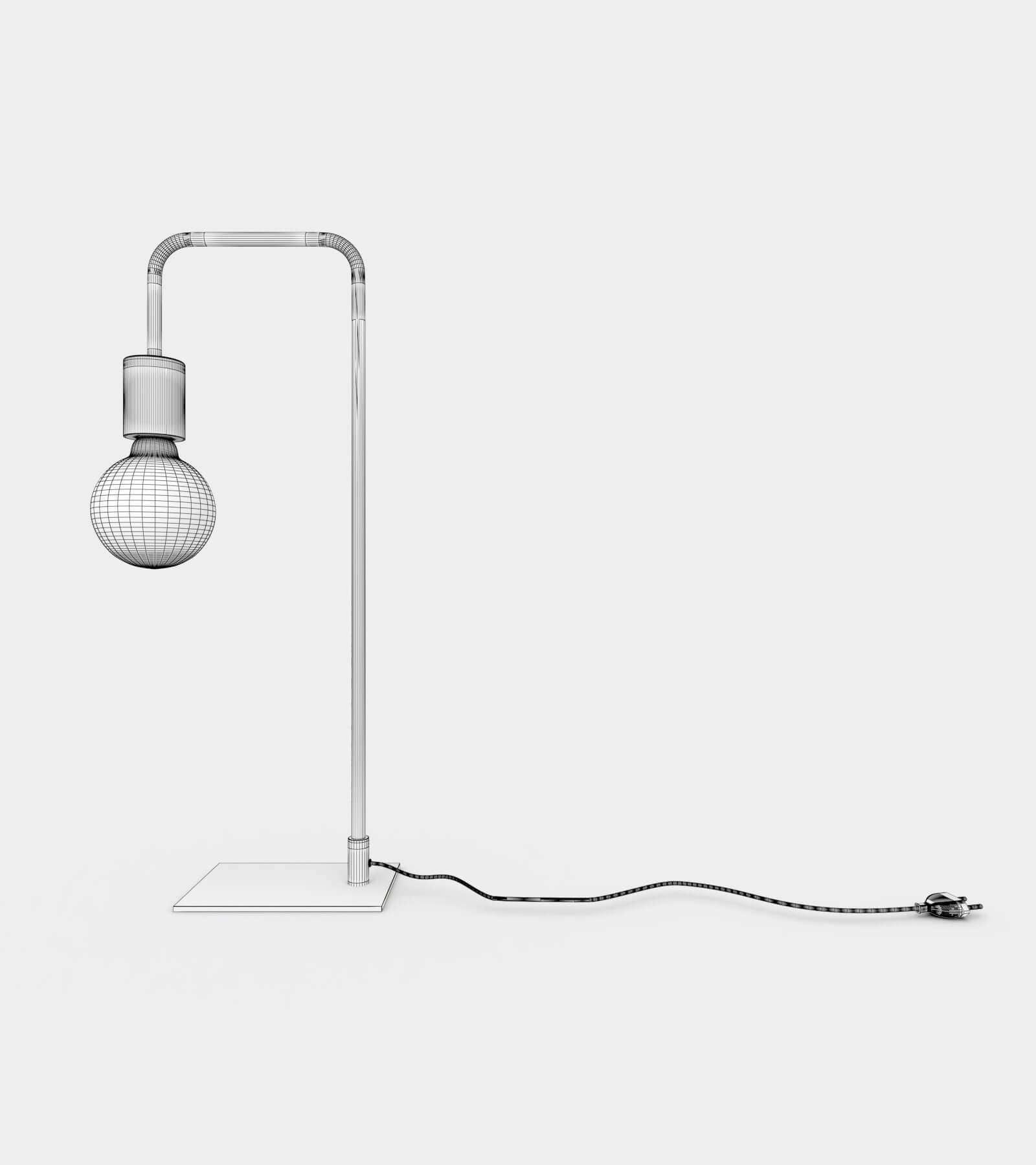 Modern & contemporary minimalist table lamp-wire-2 3D Model