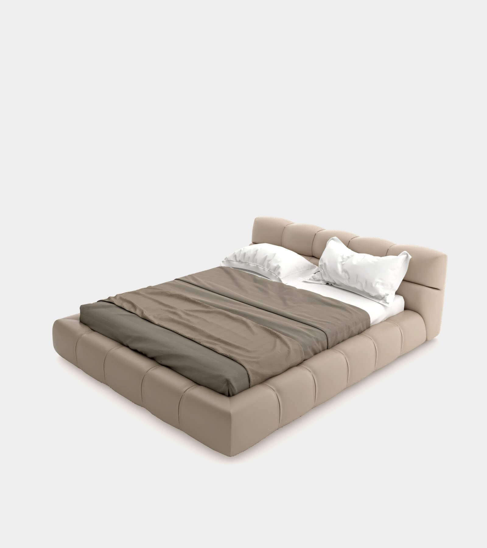 Modern leather bed 2- 3D Model