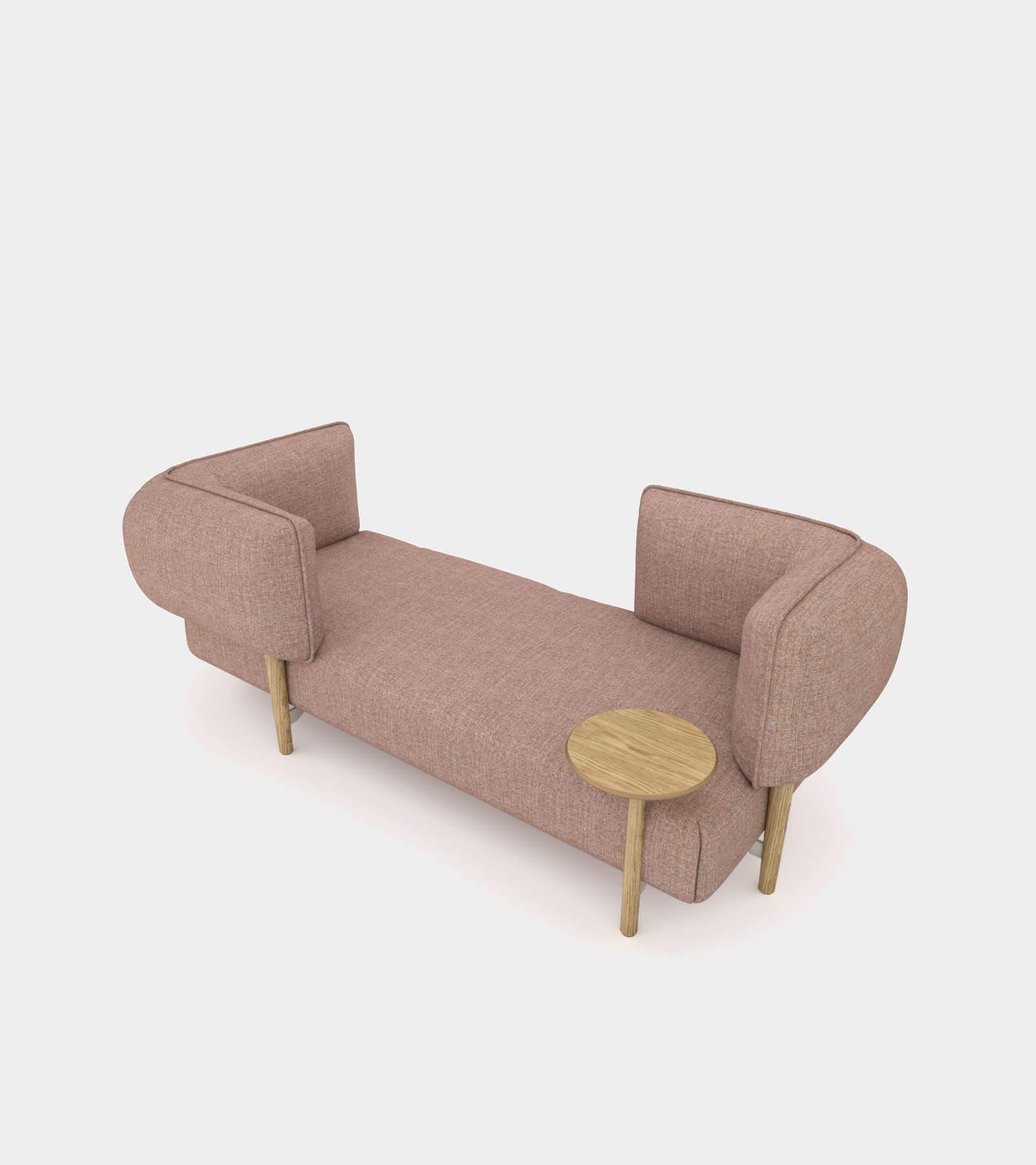 Modular fabric seat bench 2- 3D Model