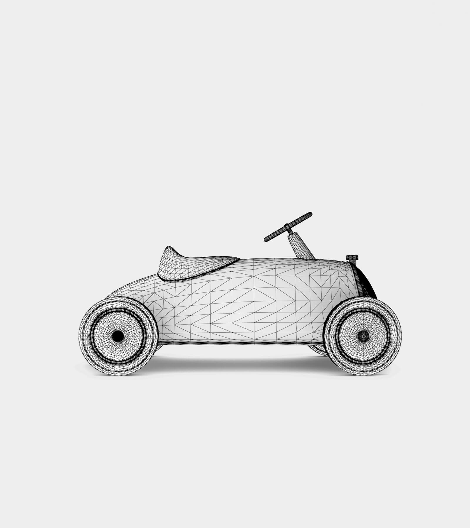 Retro Toy car-wire-12 3D Model