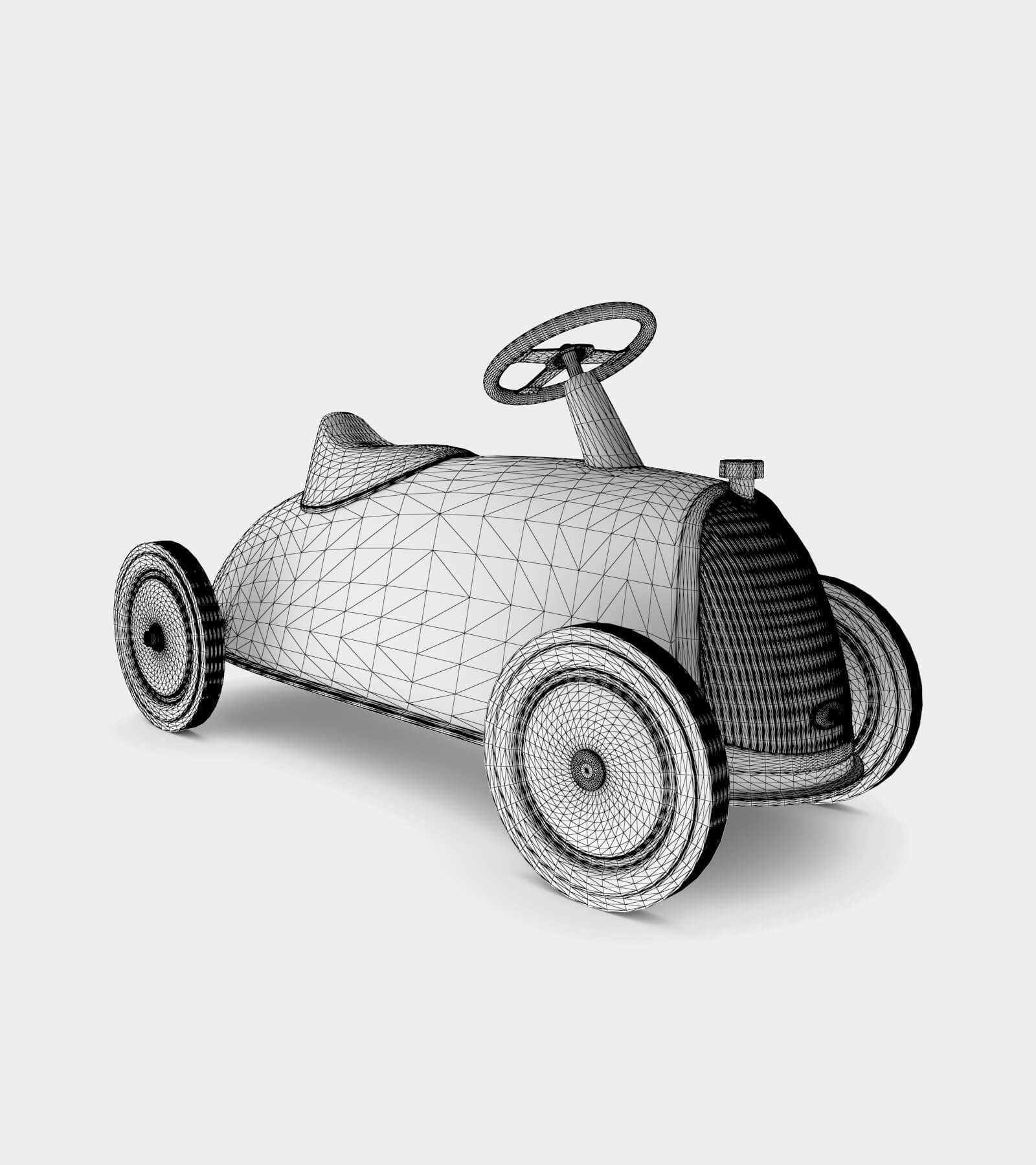 Retro Toy car-wire-22 3D Model