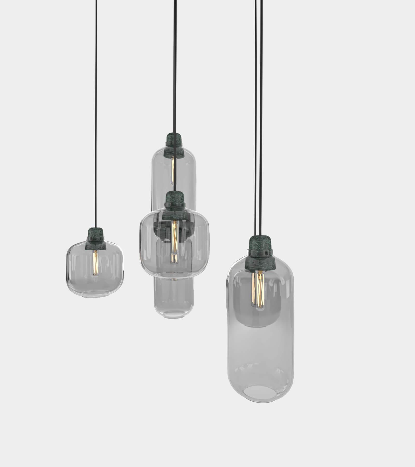 Retro round ceiling lamp set-2 3D Model