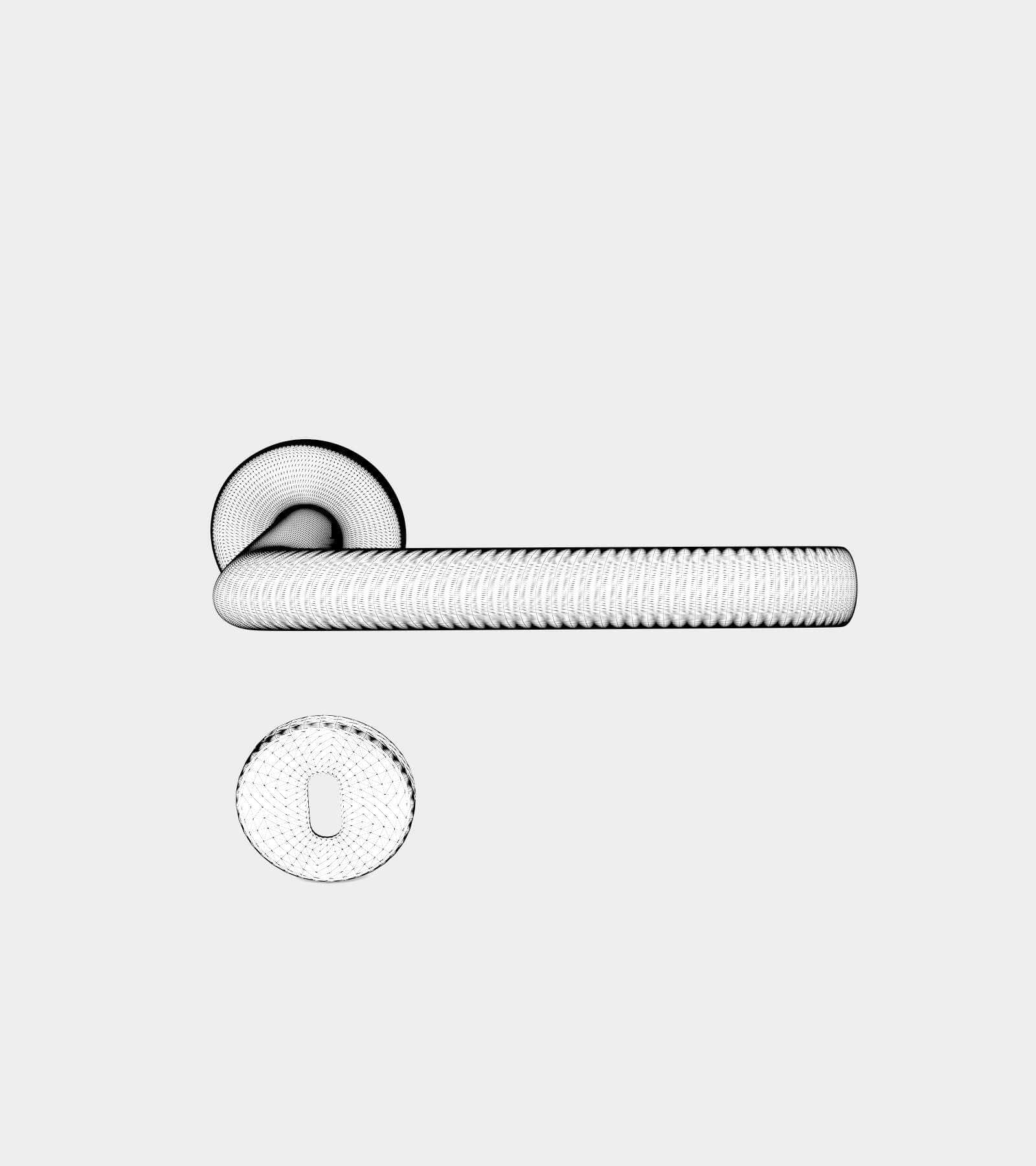 Round door handle-wire-2 3D Model