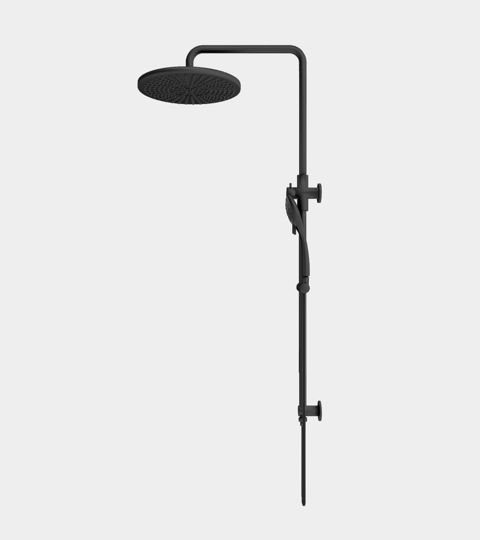 Shower set black for wall installation 2 3D Model