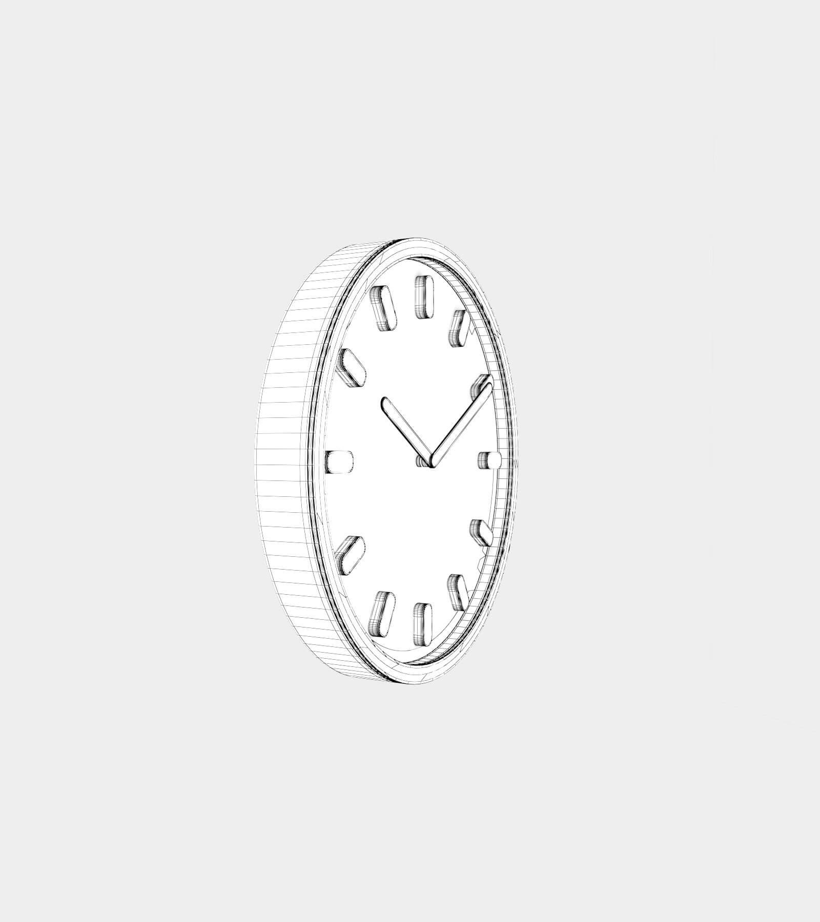 Wall clock-wire-2 3D Model