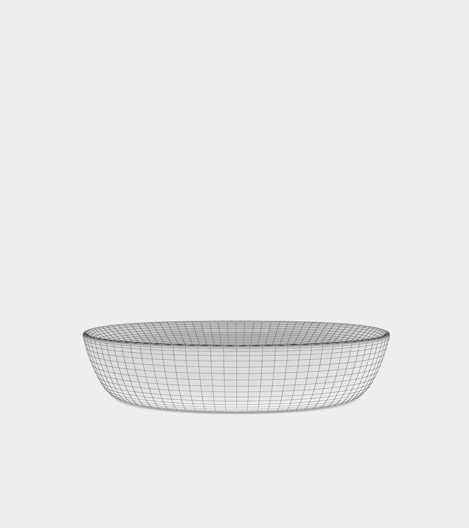 White wash basin with a round shape-wire-22 3D Model