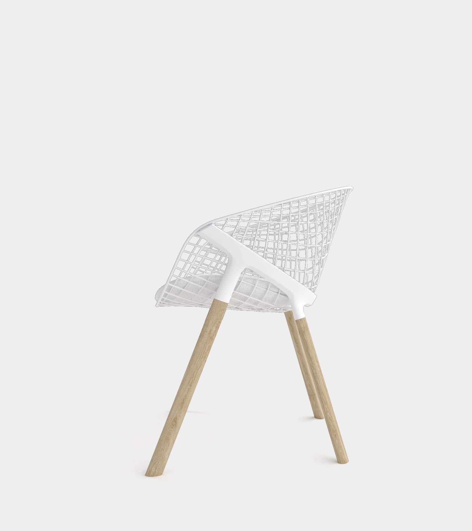 Dining chair with wire backrest-2 3D Model