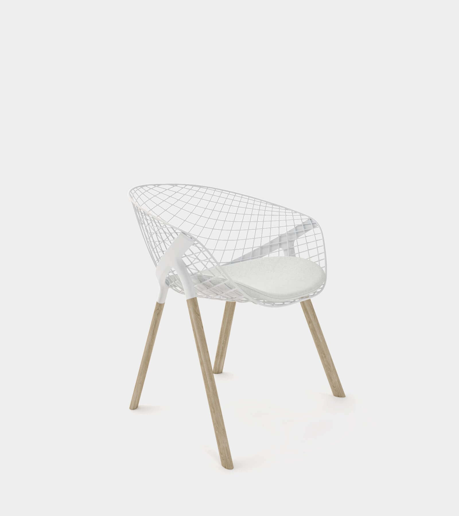 Dining chair with wire backrest 3D Model