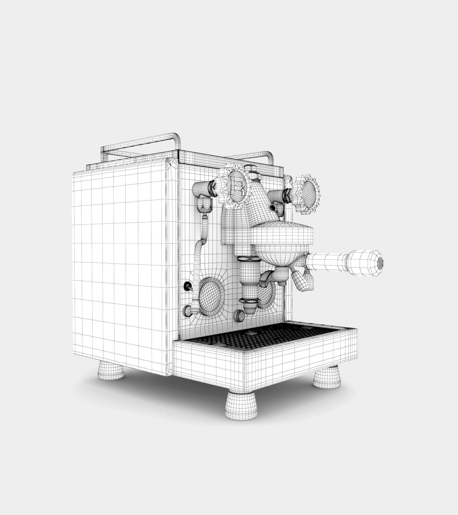Espresso machine-wire-2 3D Model