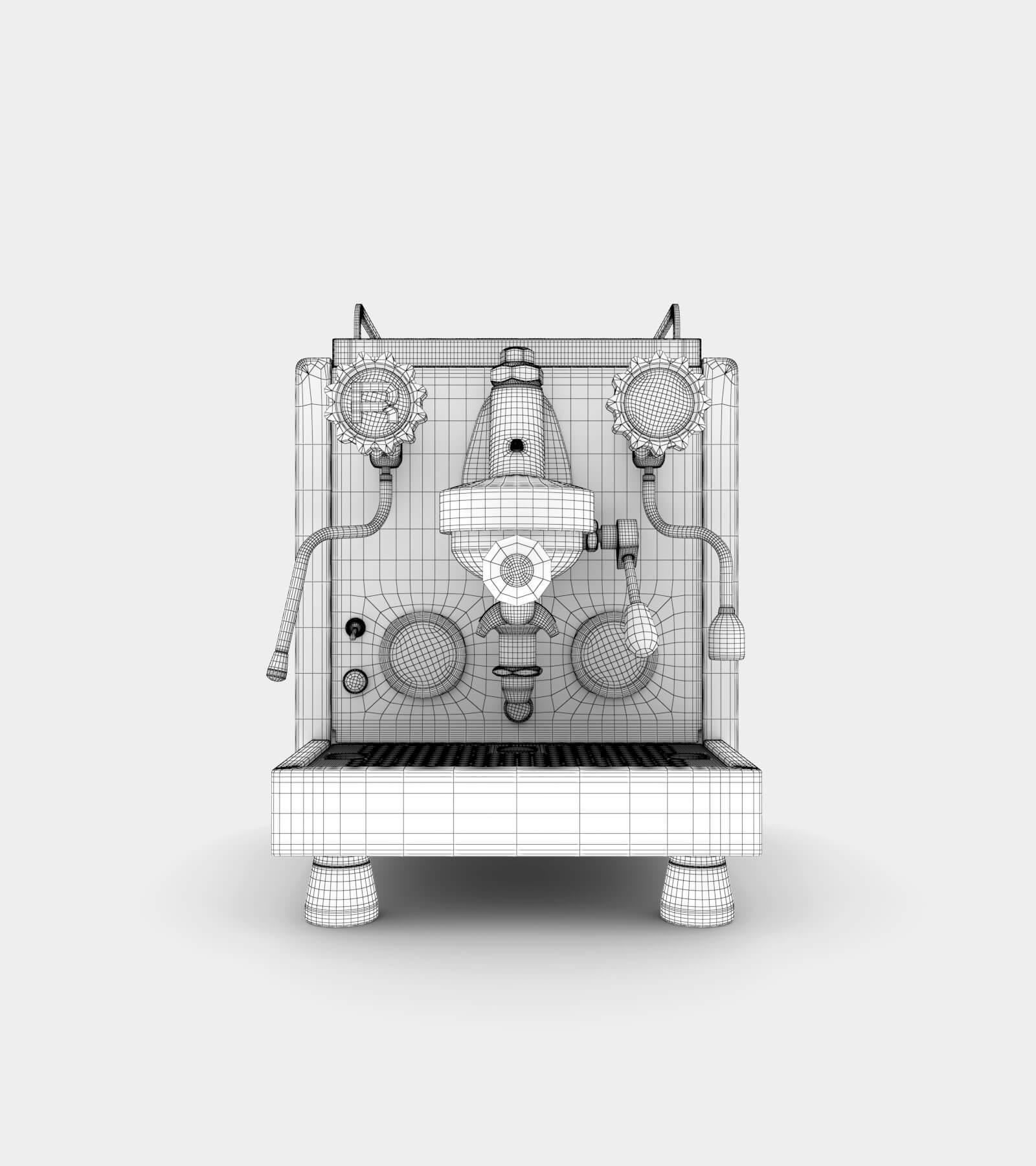 Espresso machine-wire 3D Model