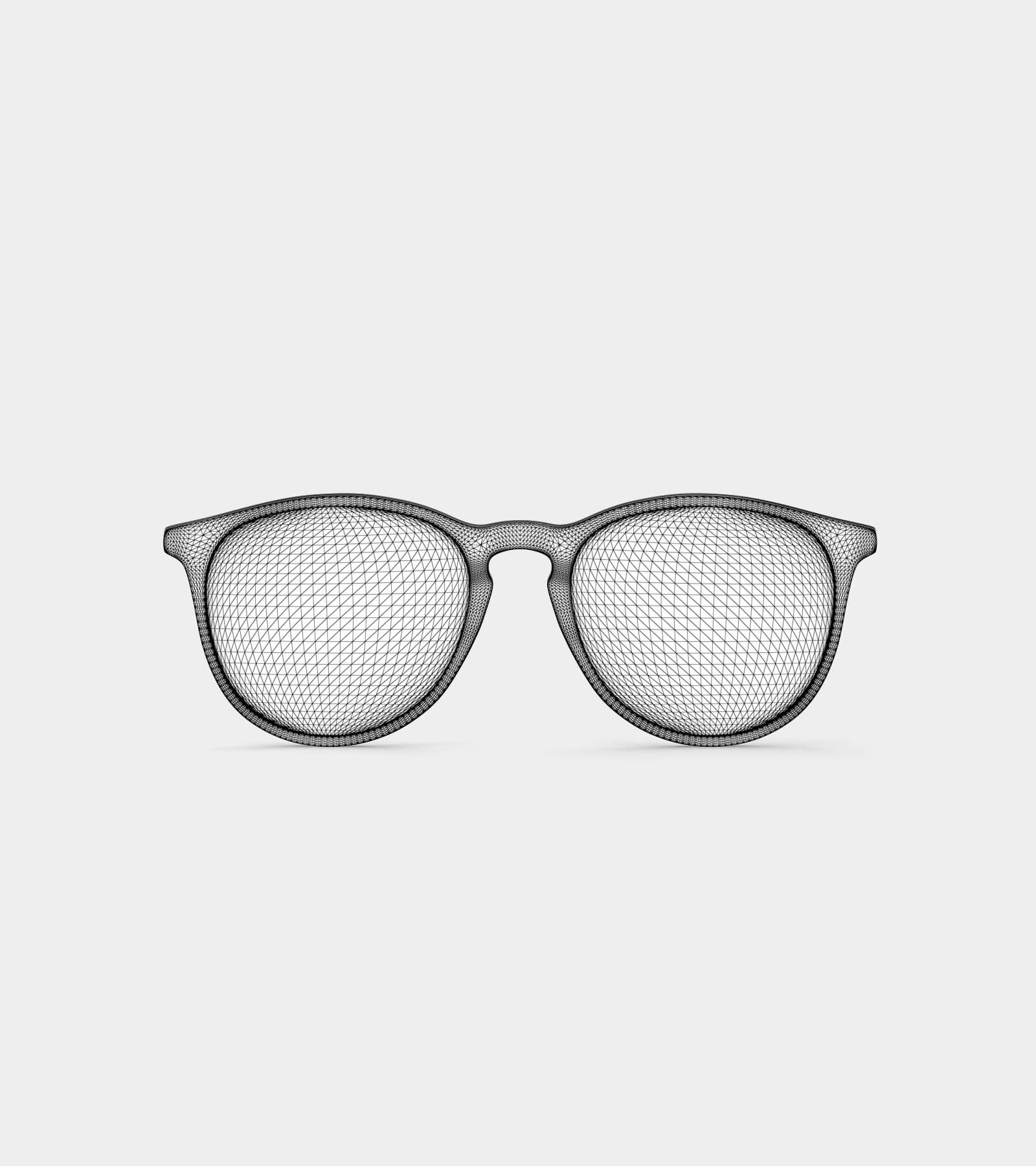 Glasses-wire-2 3D Model