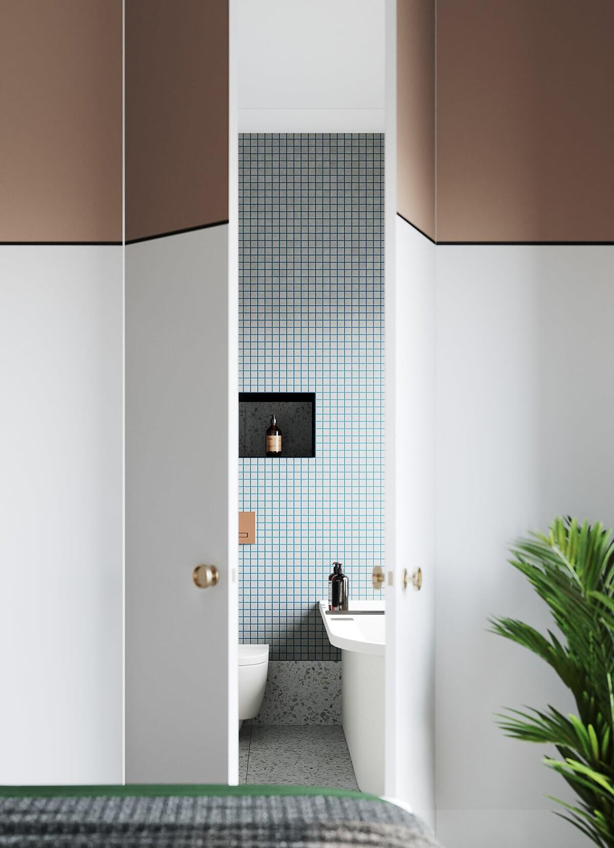 Apartment Presnya City Moscow bathroom design - cgi visualization