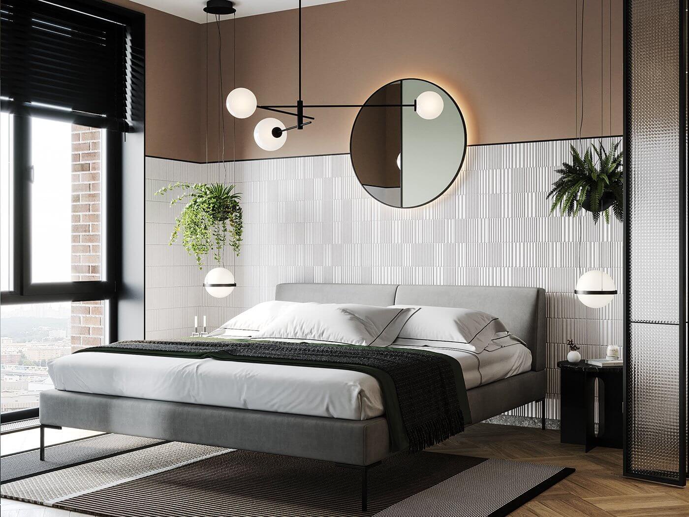 Apartment Presnya City Moscow bedroom design - cgi visualization