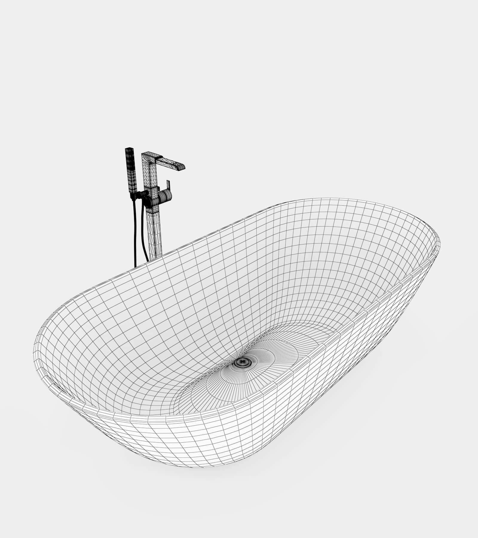 Bathroom Set-1-2-wire 3D Model