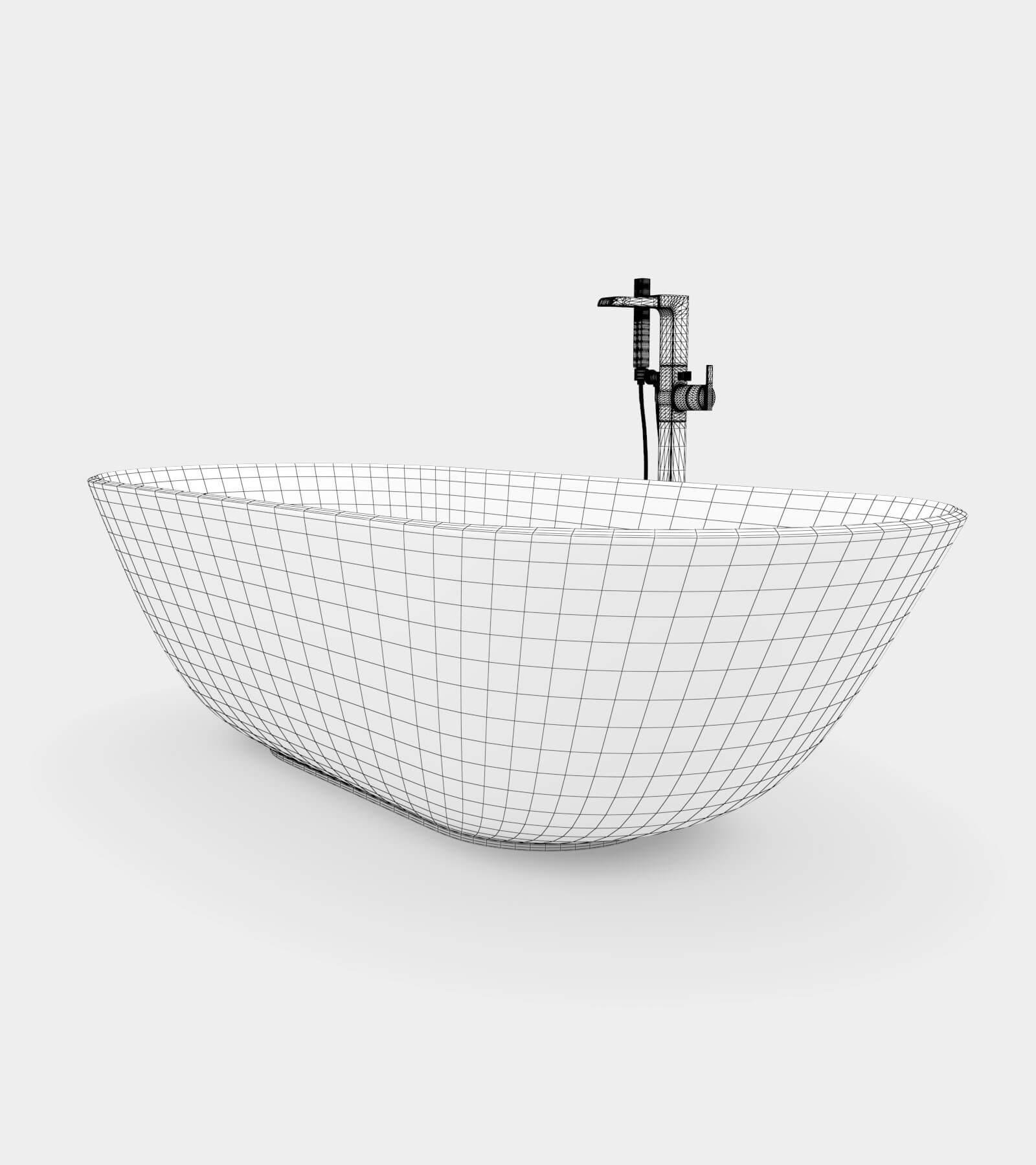 Bathroom Set 1 - 2 wire 3D Model