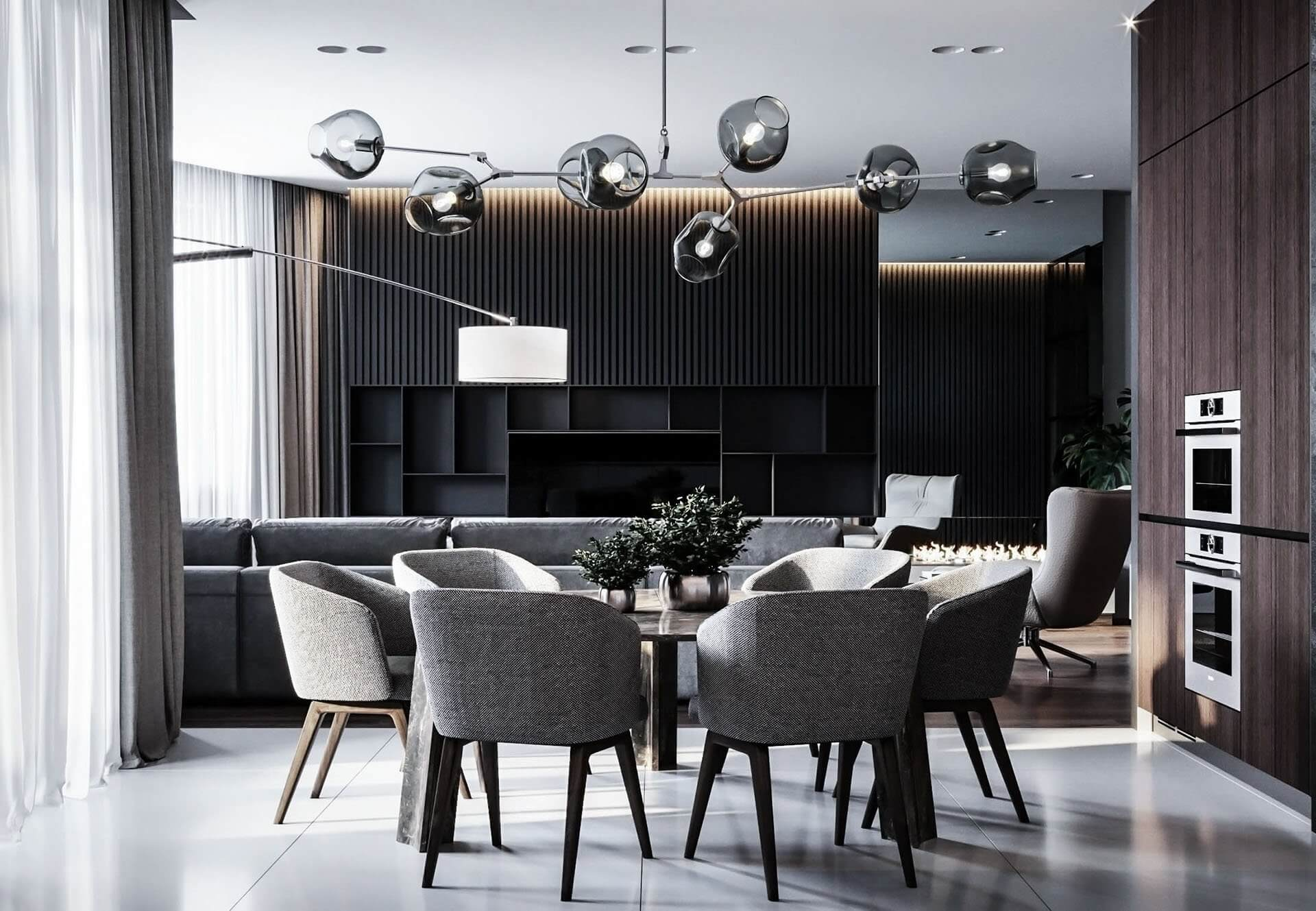 Dubrovka apartment dining room 3 - cgi visualization
