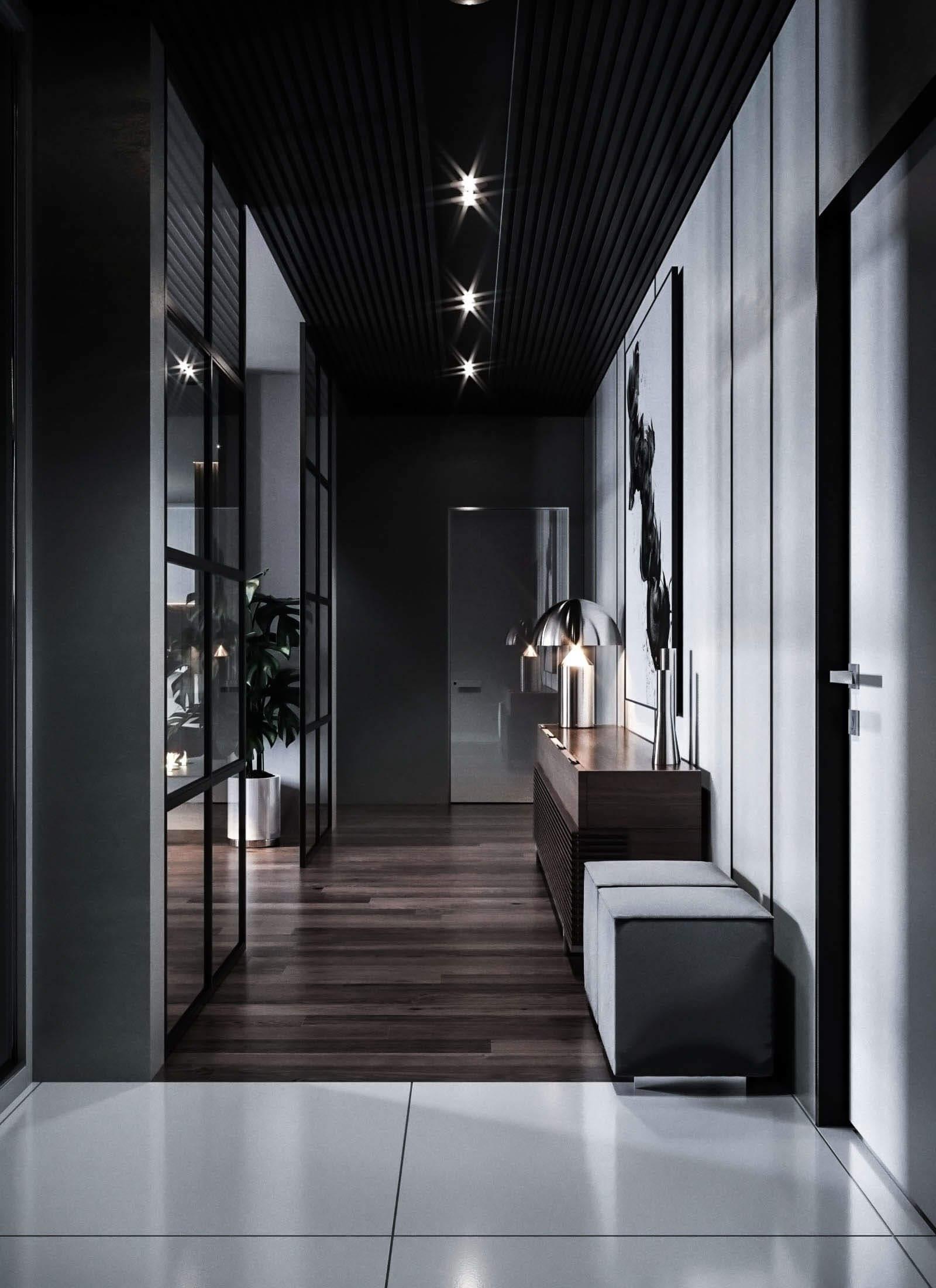 Dubrovka apartment entrance corridor - cgi visualization