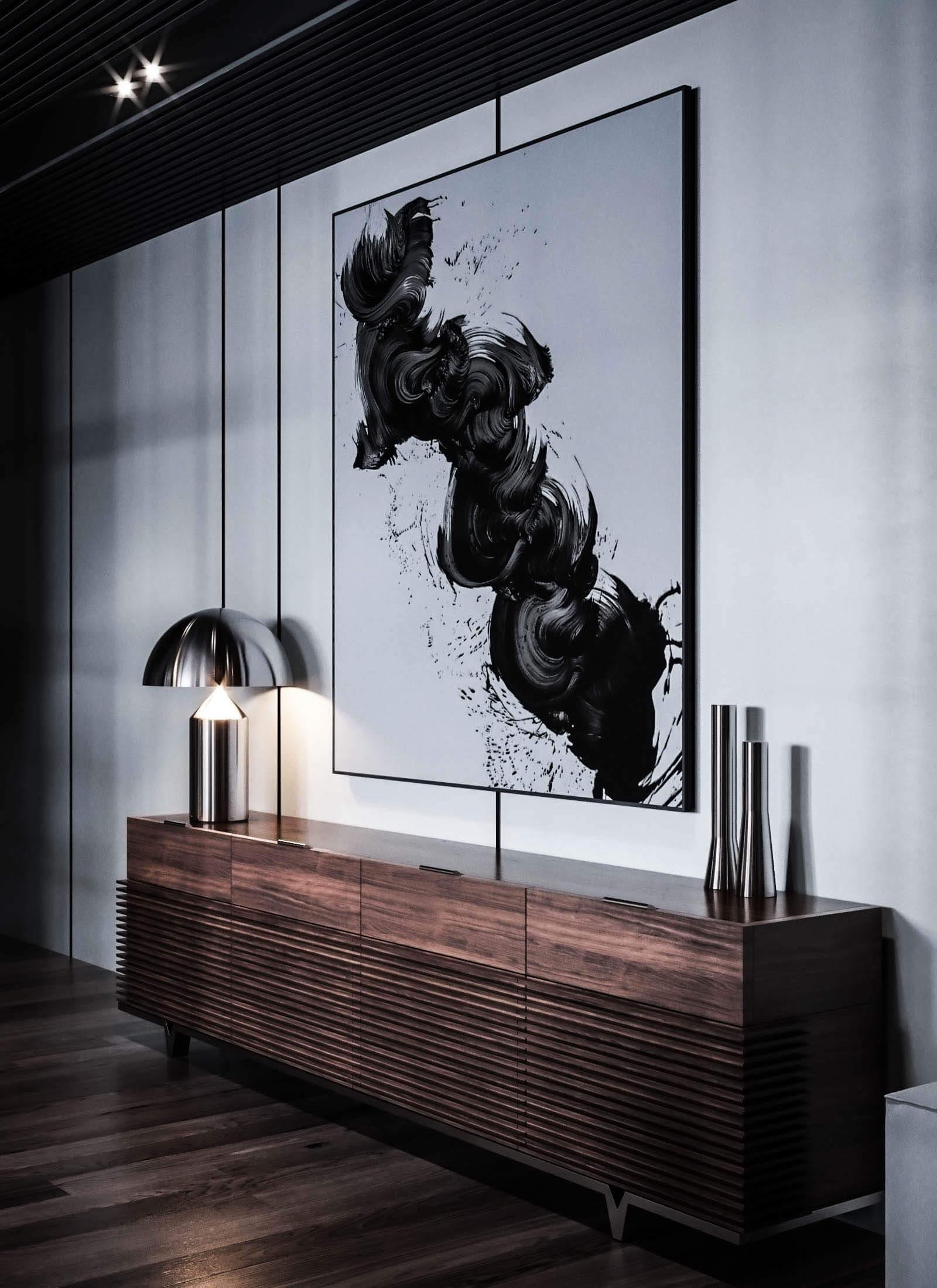 Dubrovka apartment sideboard 3 - cgi visualizatiomn