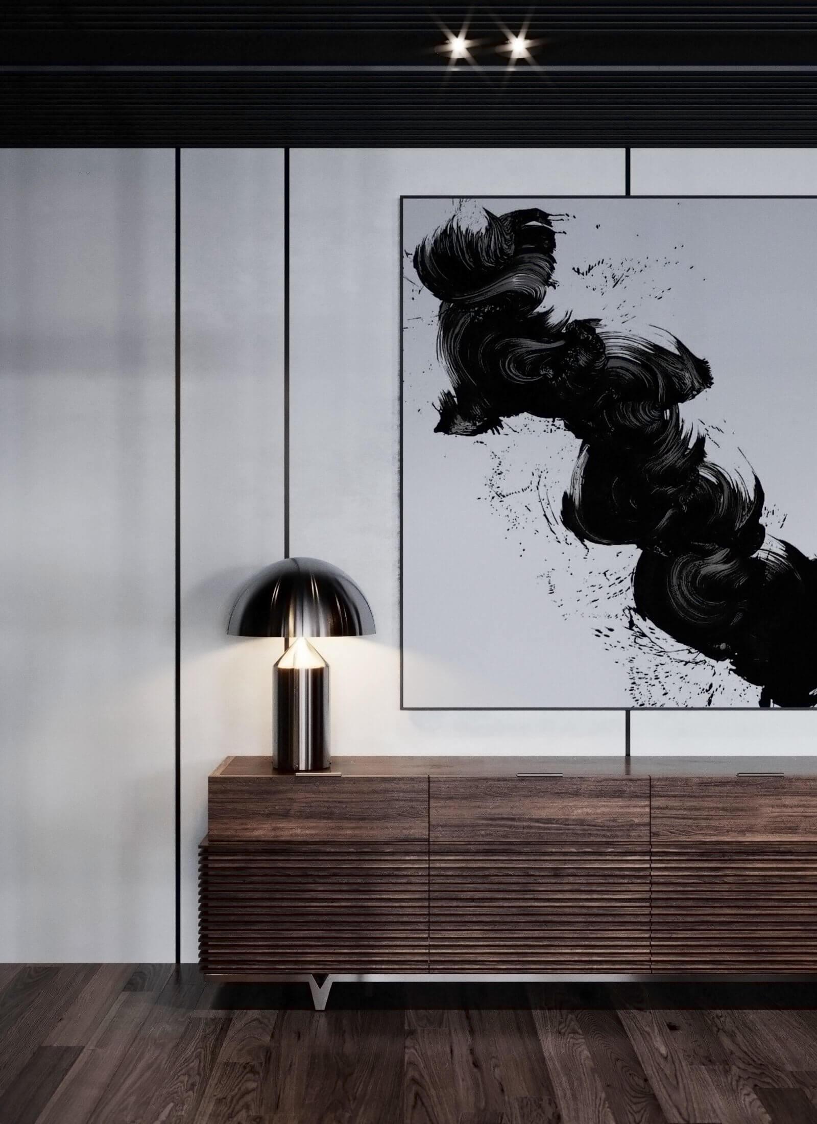 Dubrovka apartment sideboard - cgi visualizatiomn