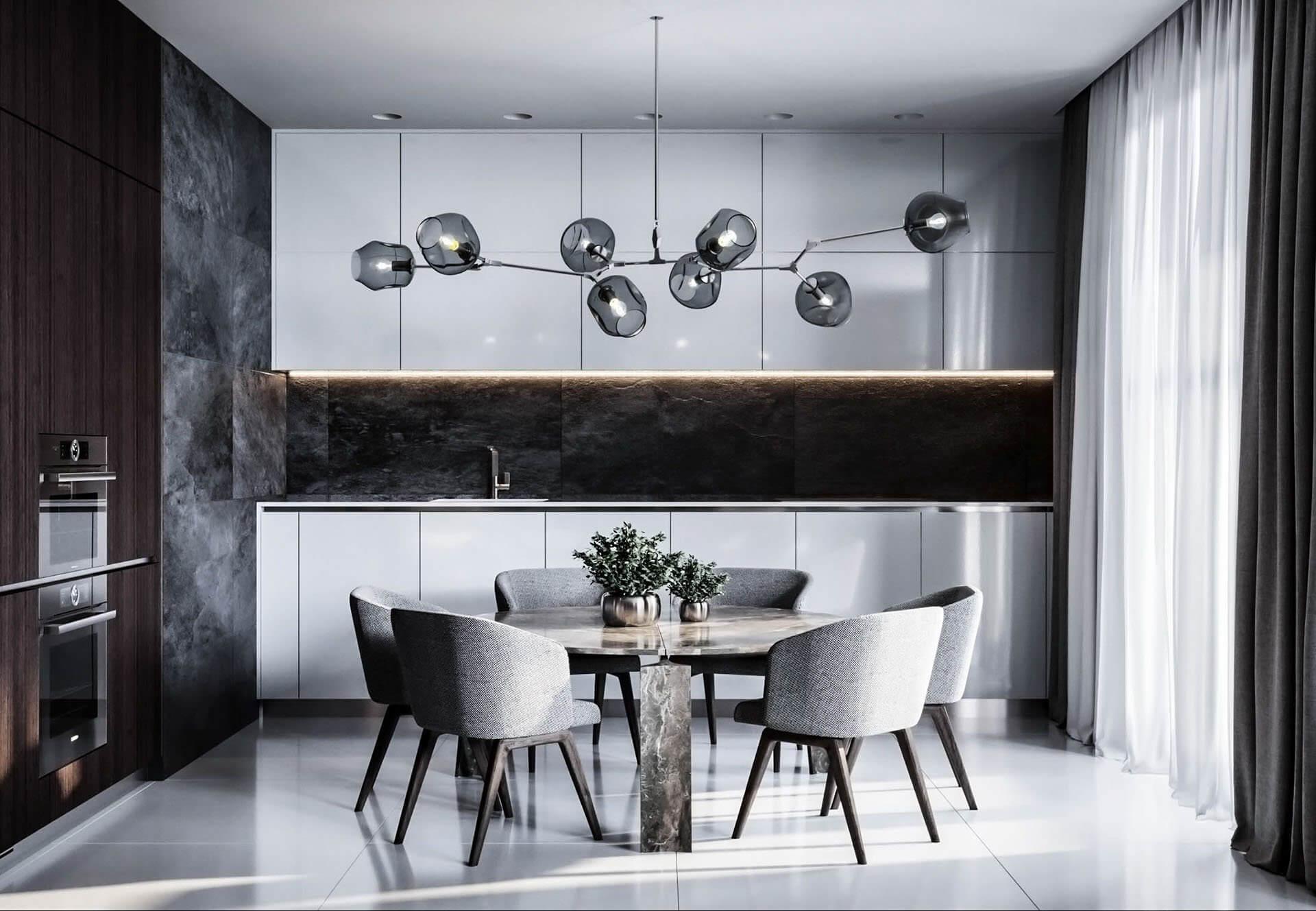 Dubrovka apartment sideboard kitchen - cgi visualizatiomn