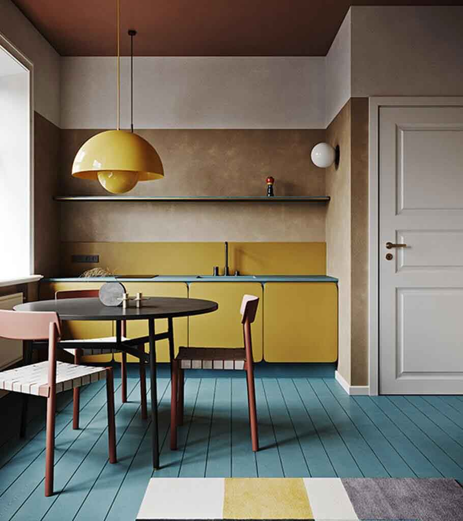 Extraordinary colourful apartment header - cgi visualization