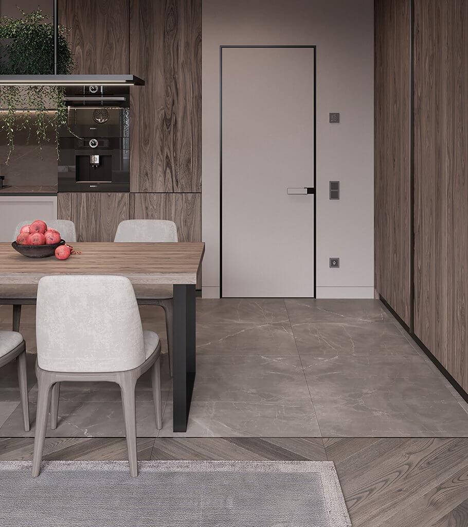 Kitchen Visualizer: Mocco Kitchen & Living // Cgi Visualization
