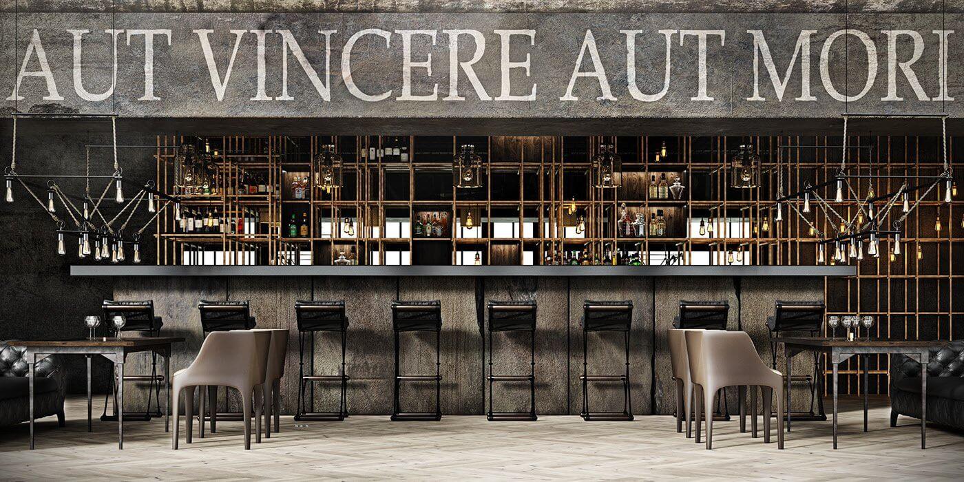 Restaurant Aut vincere aut mori bar - cgi visualization