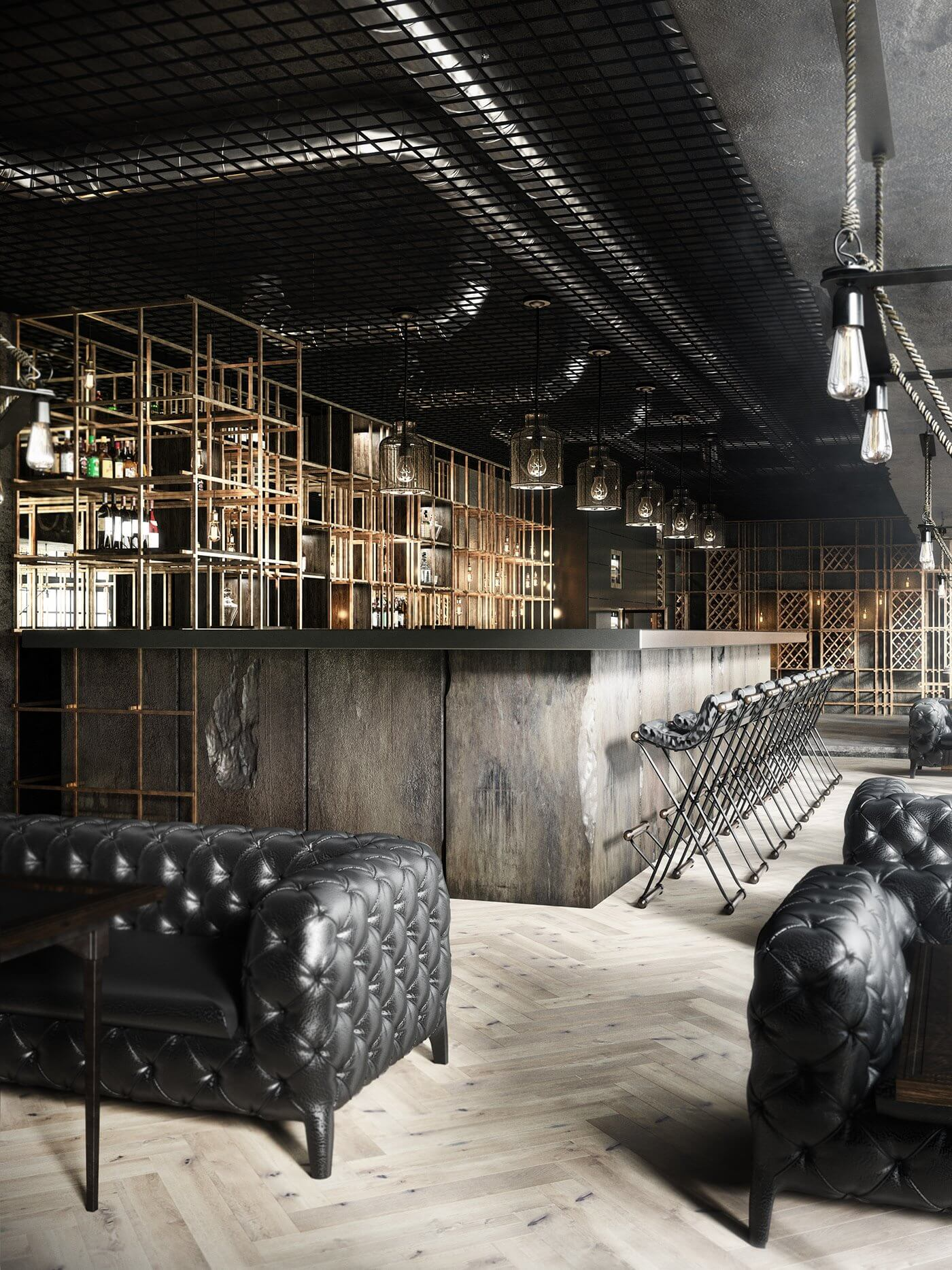 Restaurant Aut vincere aut mori bar stone - cgi visualization
