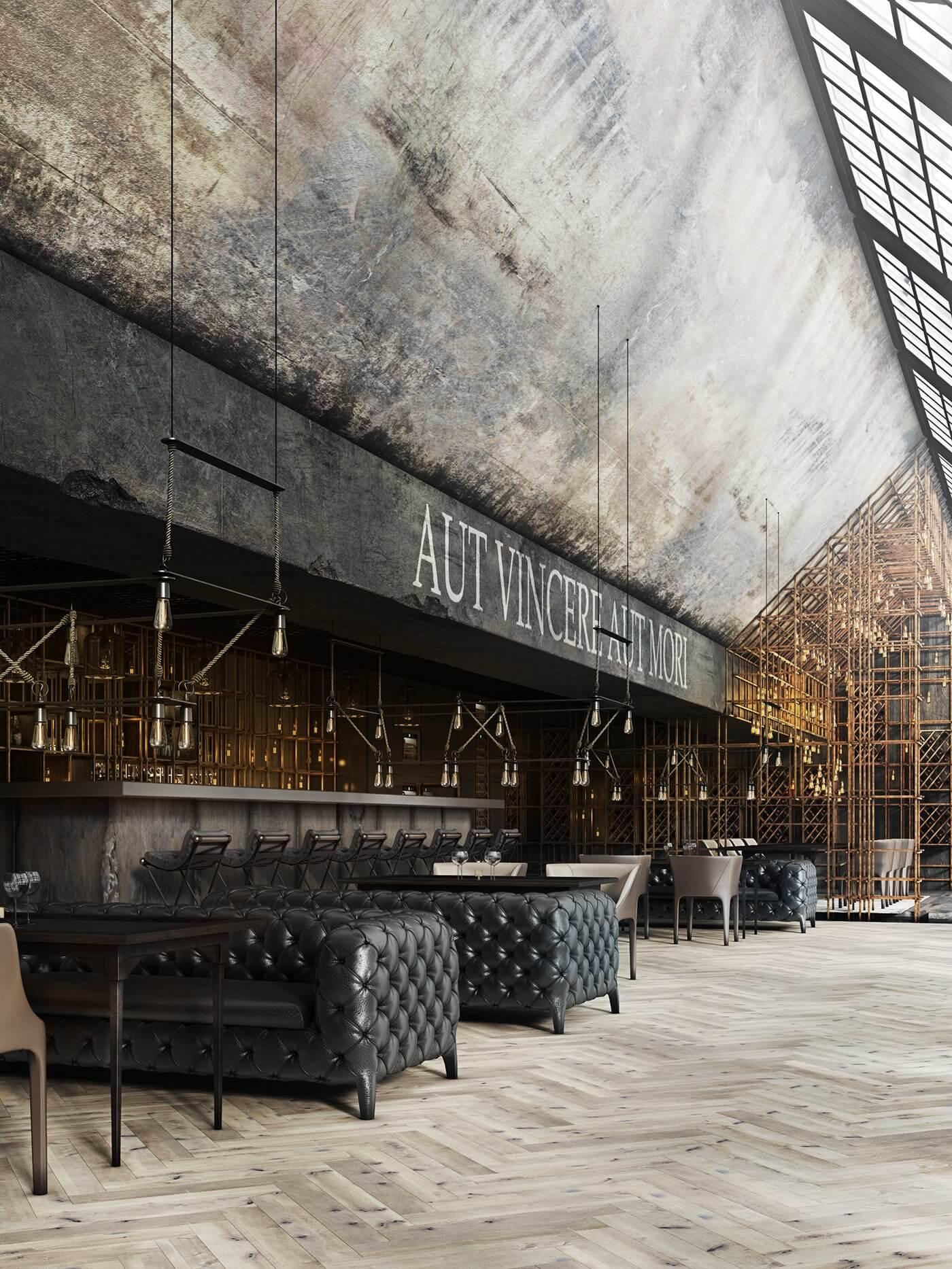 Restaurant Aut vincere aut mori lounge - cgi visualization
