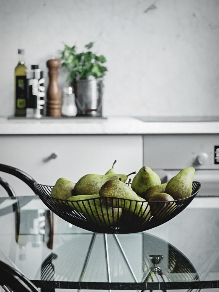 Scandinavian flat detail fruit - cgi visualization