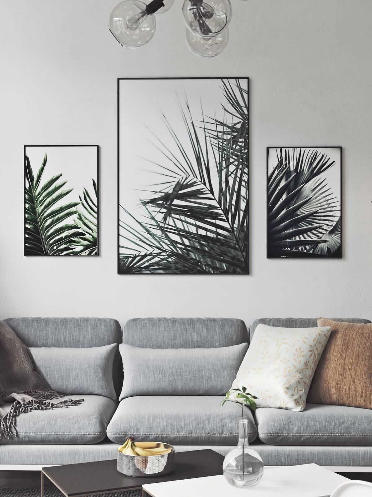 Scandinavian flat living room sofa - cgi visualization