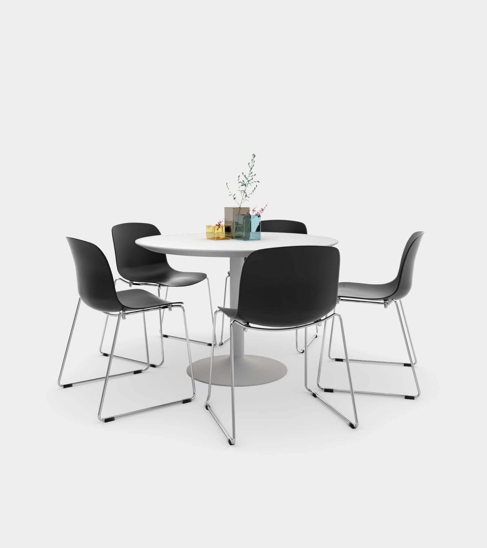 Dining Set 01-1-3D Model