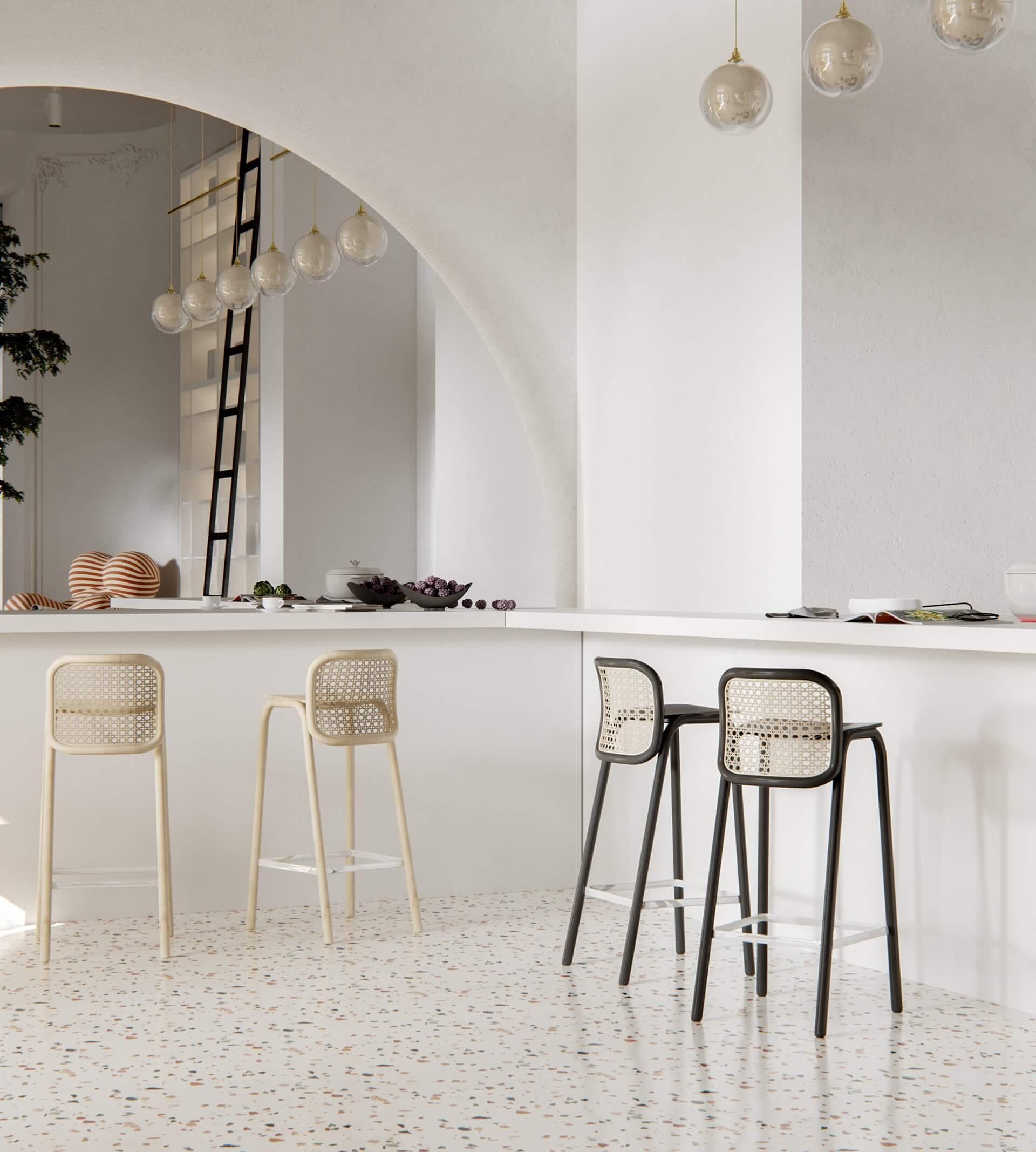 Modern bar restaurant design area drinks - cgi visualization