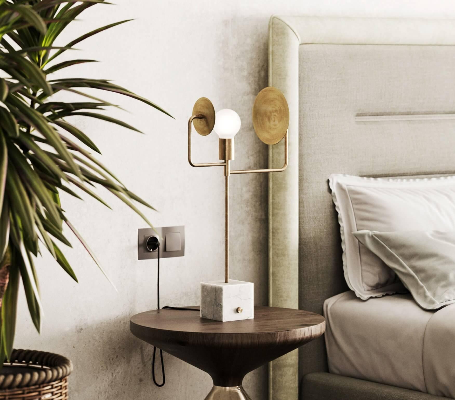 Sin-cinnati bedroom side table wood