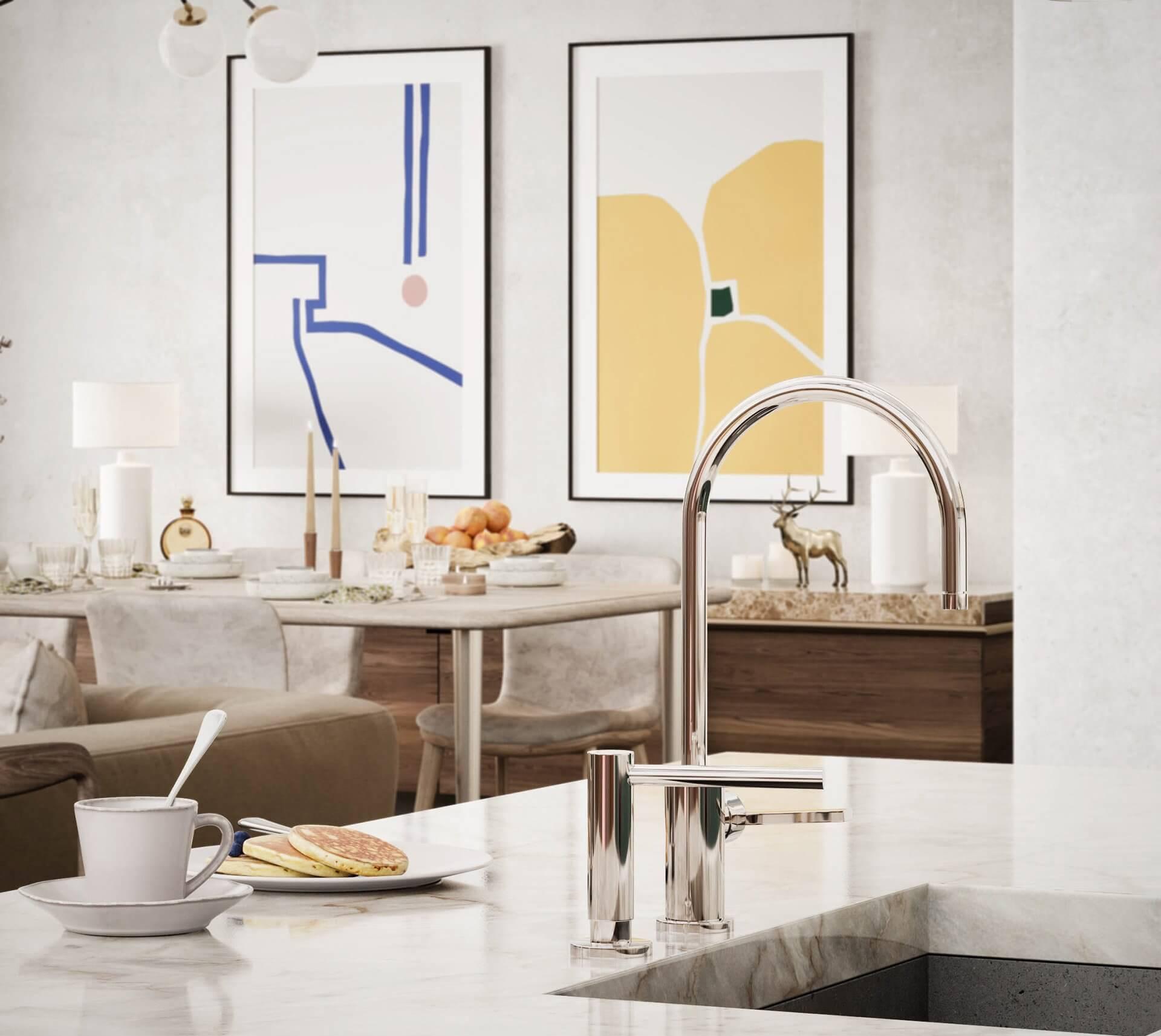 Sin-cinnati kitchen design faucet chrome
