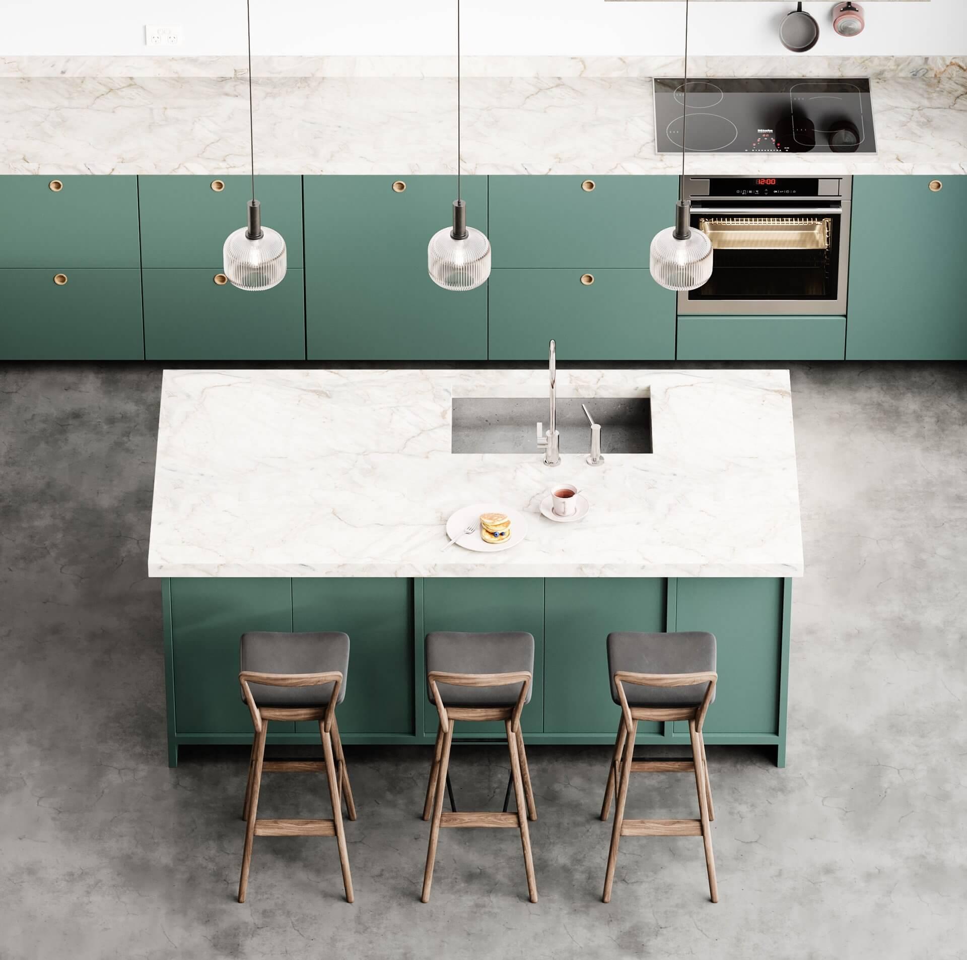 Sin-cinnati kitchen design green